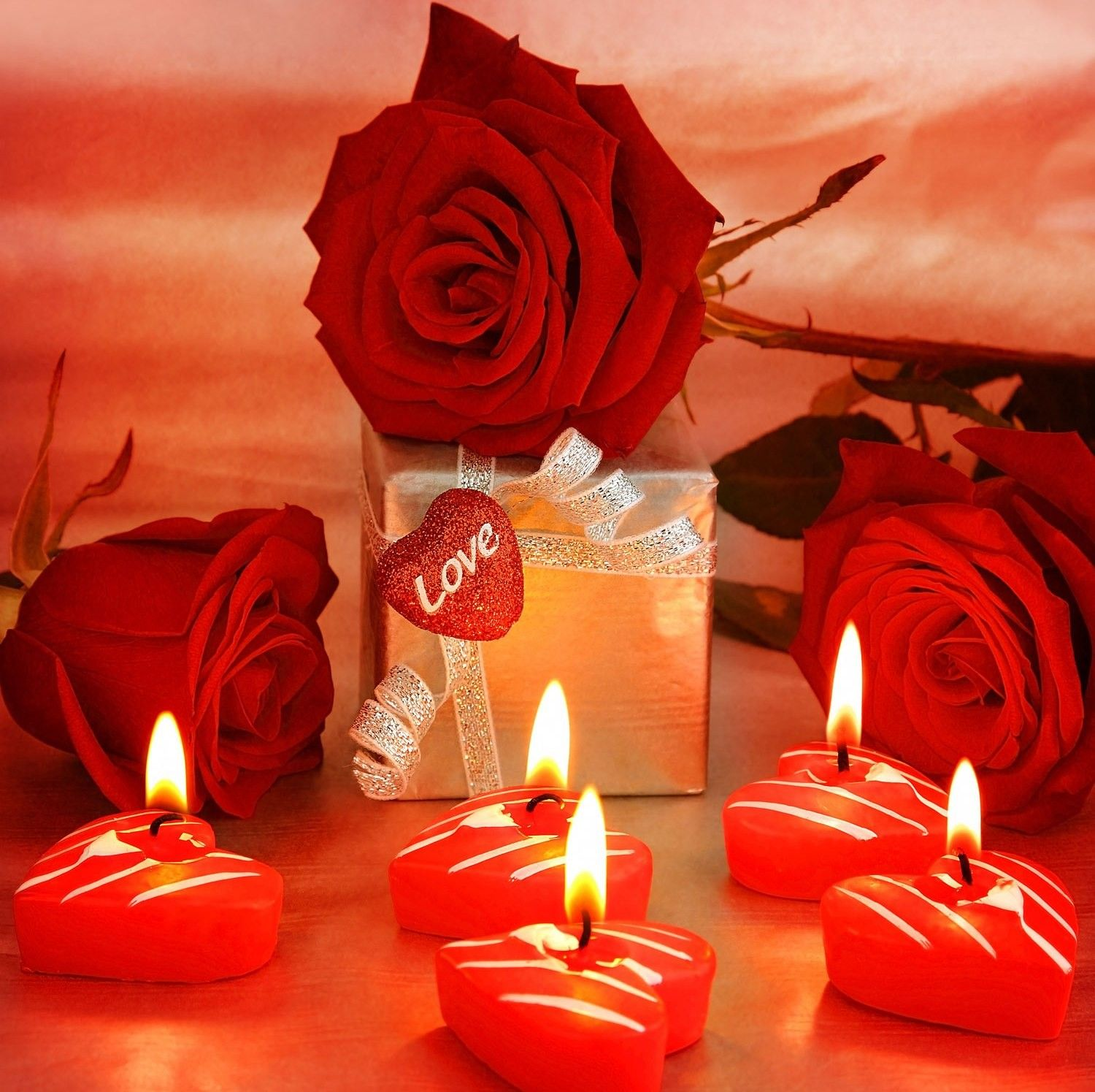 Flower: Love Flower Candles Romantic Red Rose Wallpaper Apple HD 16 ...