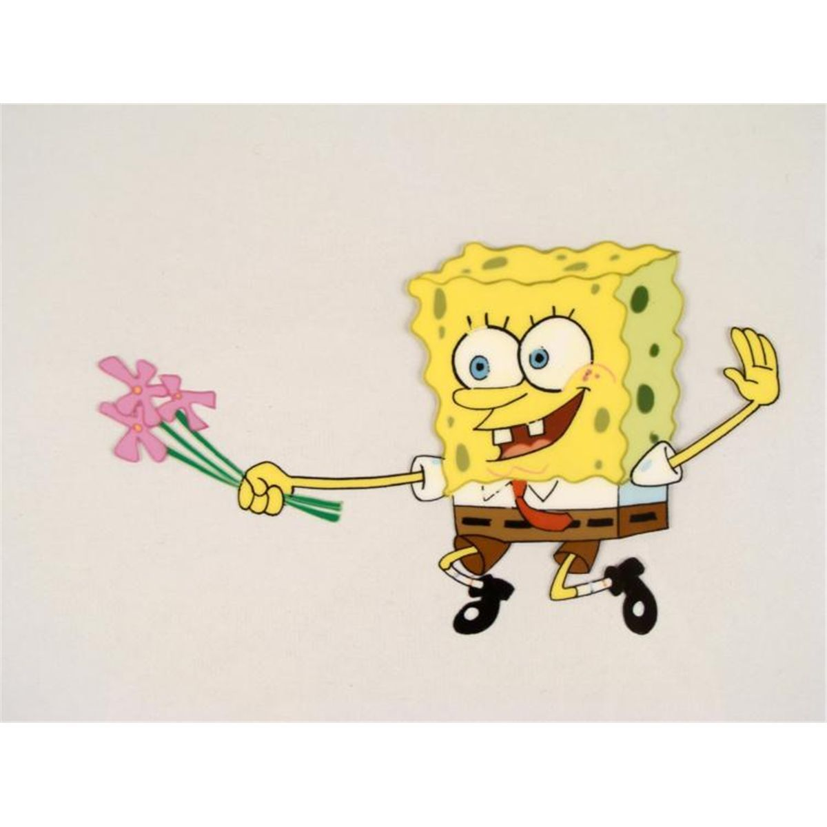 Slapping Flowers SpongeBob Original Animation Art Cel