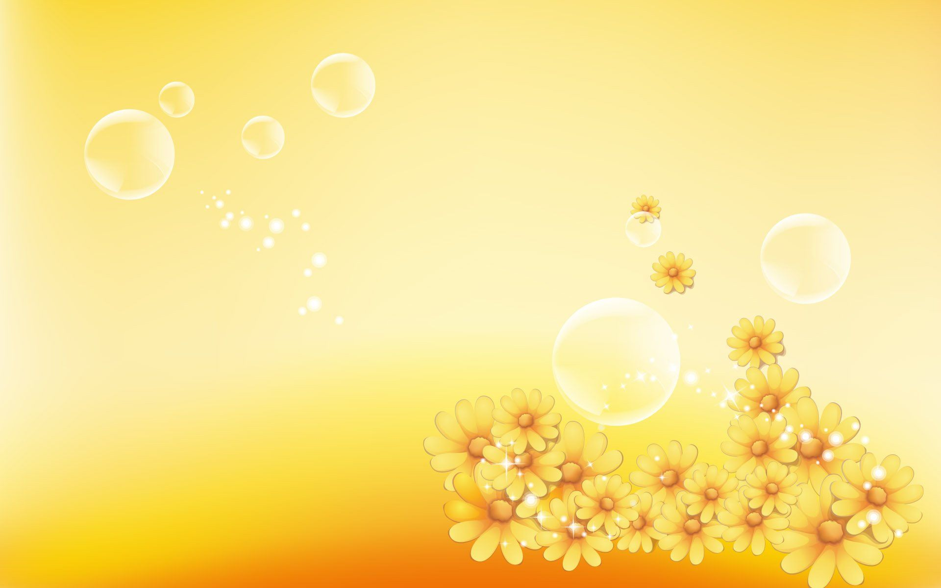 Yellow Flowers Background 528108 - WallDevil