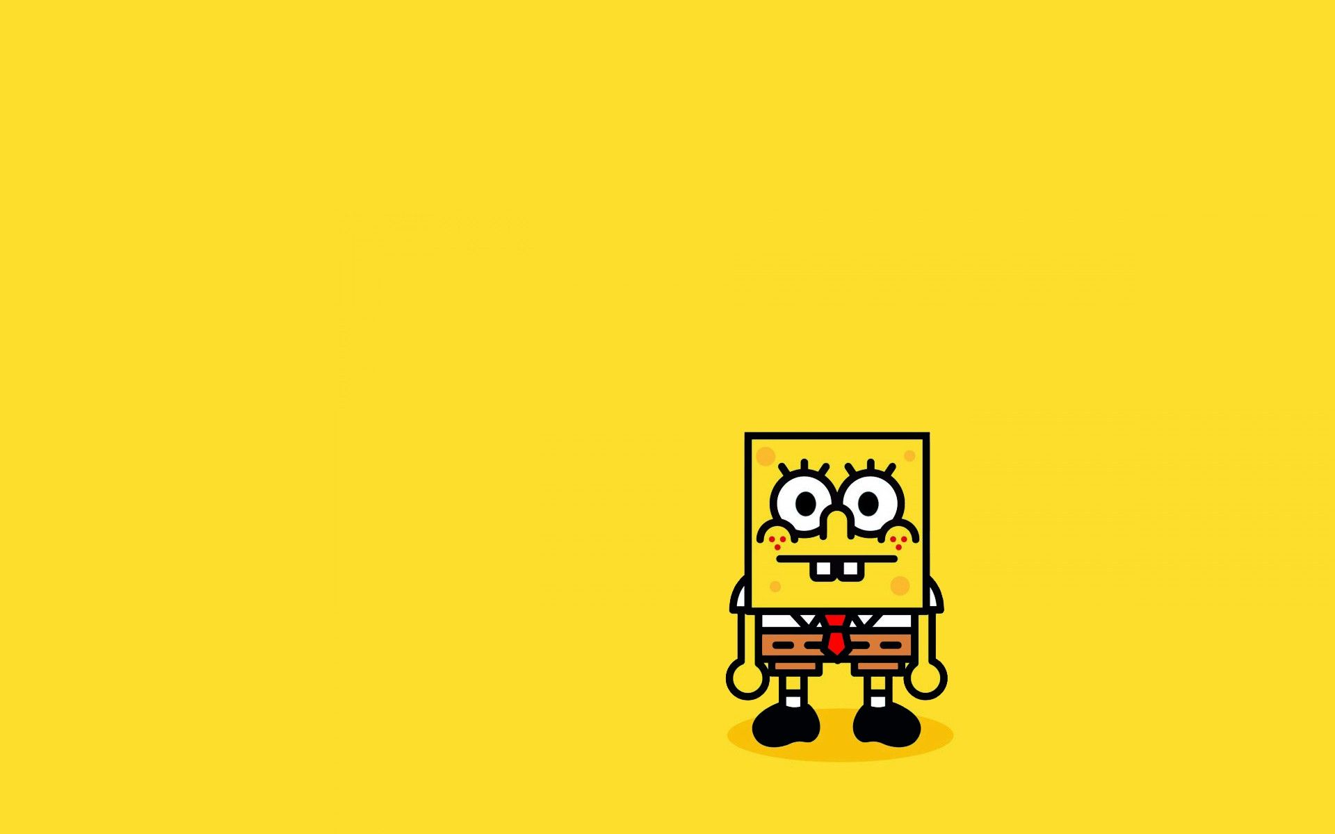 SpongeBob SquarePants, Minimalism, Simple background Wallpapers HD ...