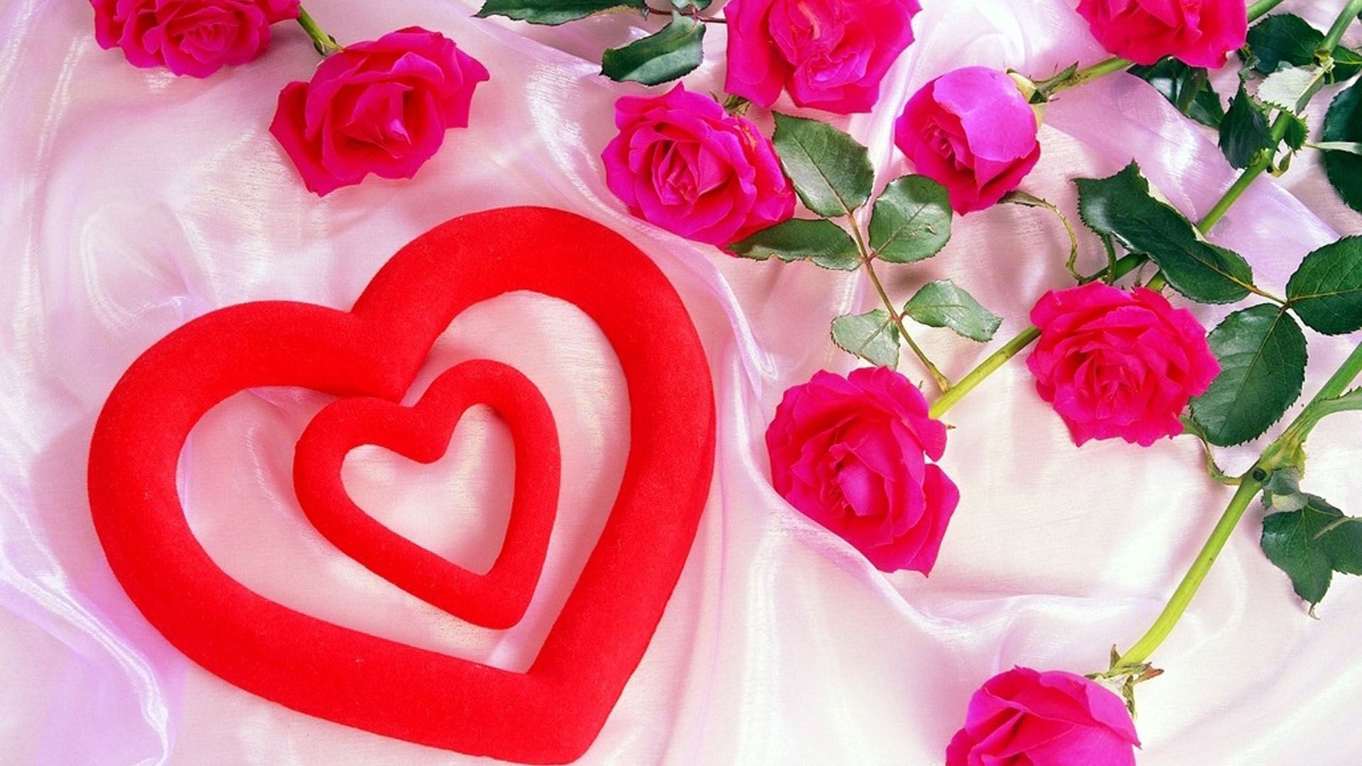 Rose With Love Heart Wallpaper | HD Desktop Background