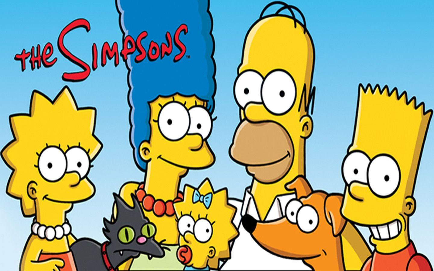 The Simpsons Family Introduction Desktop Wallpaper HD | Cartoons ...