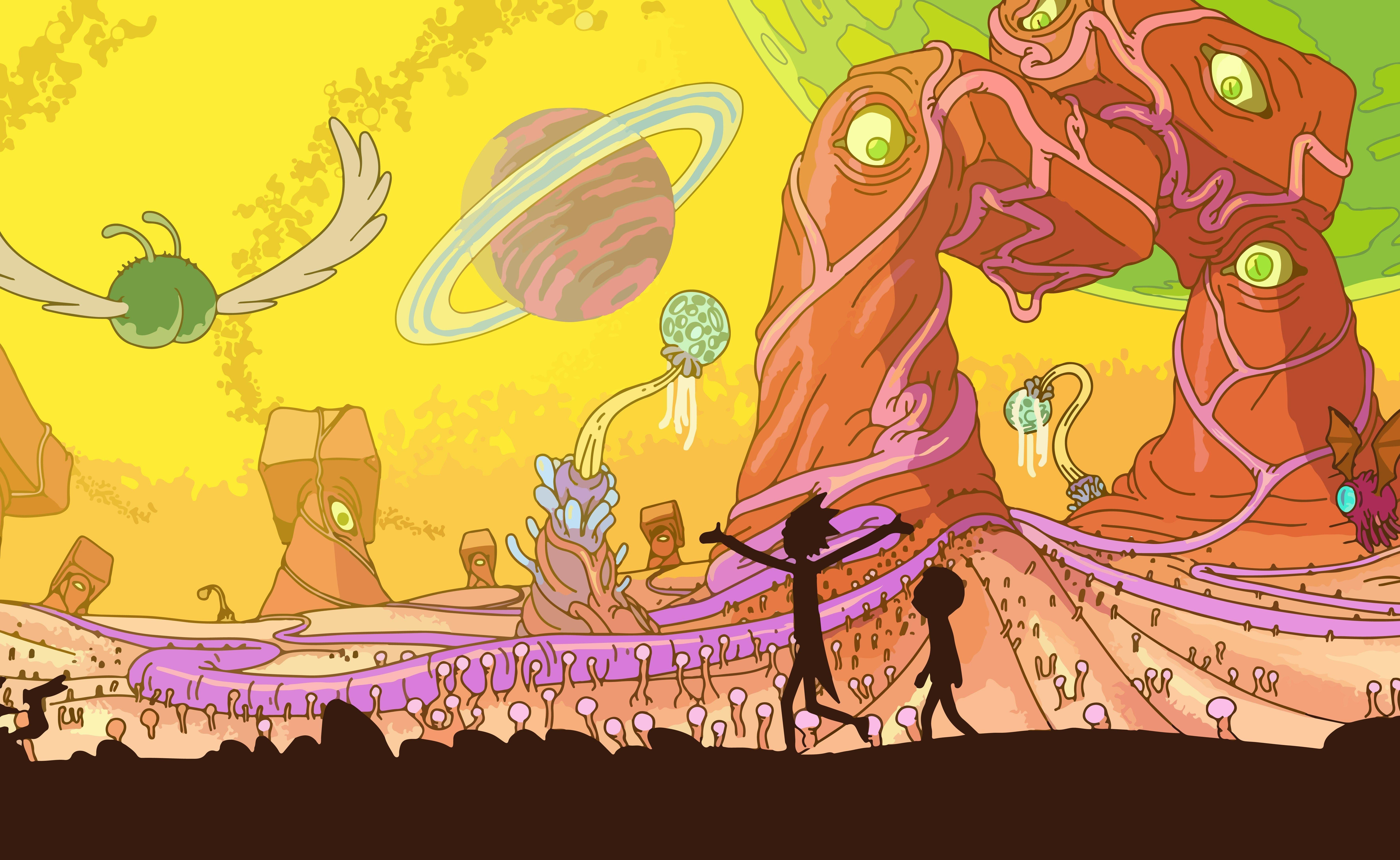 Rick And Morty, Adult Swim, Space, Animation, Planet Wallpapers HD ...