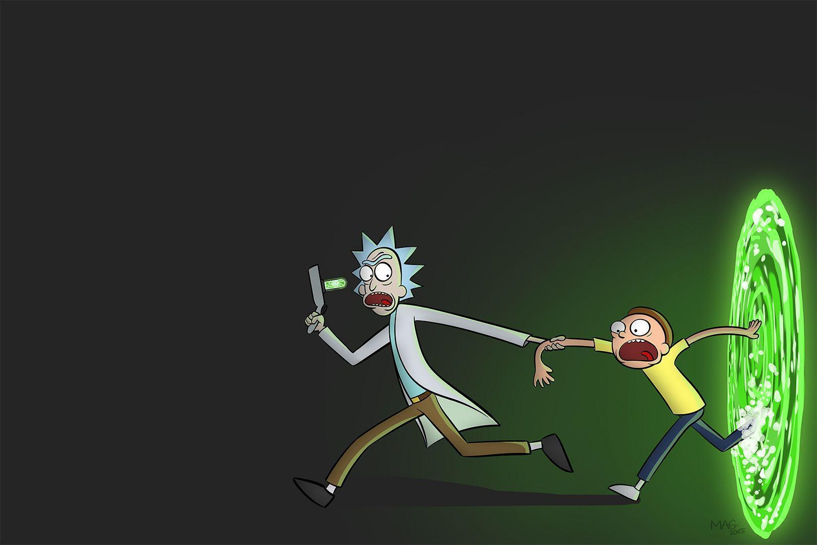 Rick and Morty_01 (Duel Monitor Wallpaper) by MikeAGar85 on Newgrounds