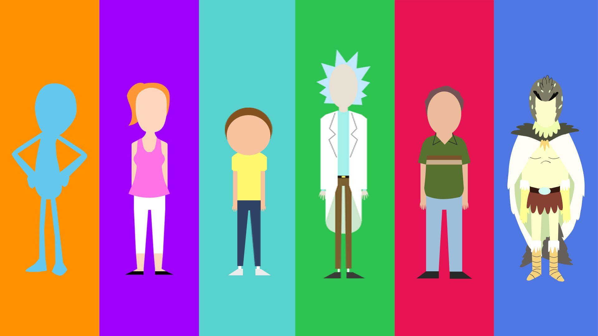 My minimalist Rick and Morty character collection - Album on Imgur
