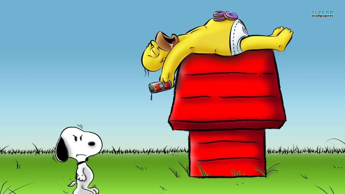 Homer - Snoopy wallpaper - Cartoon wallpapers - #