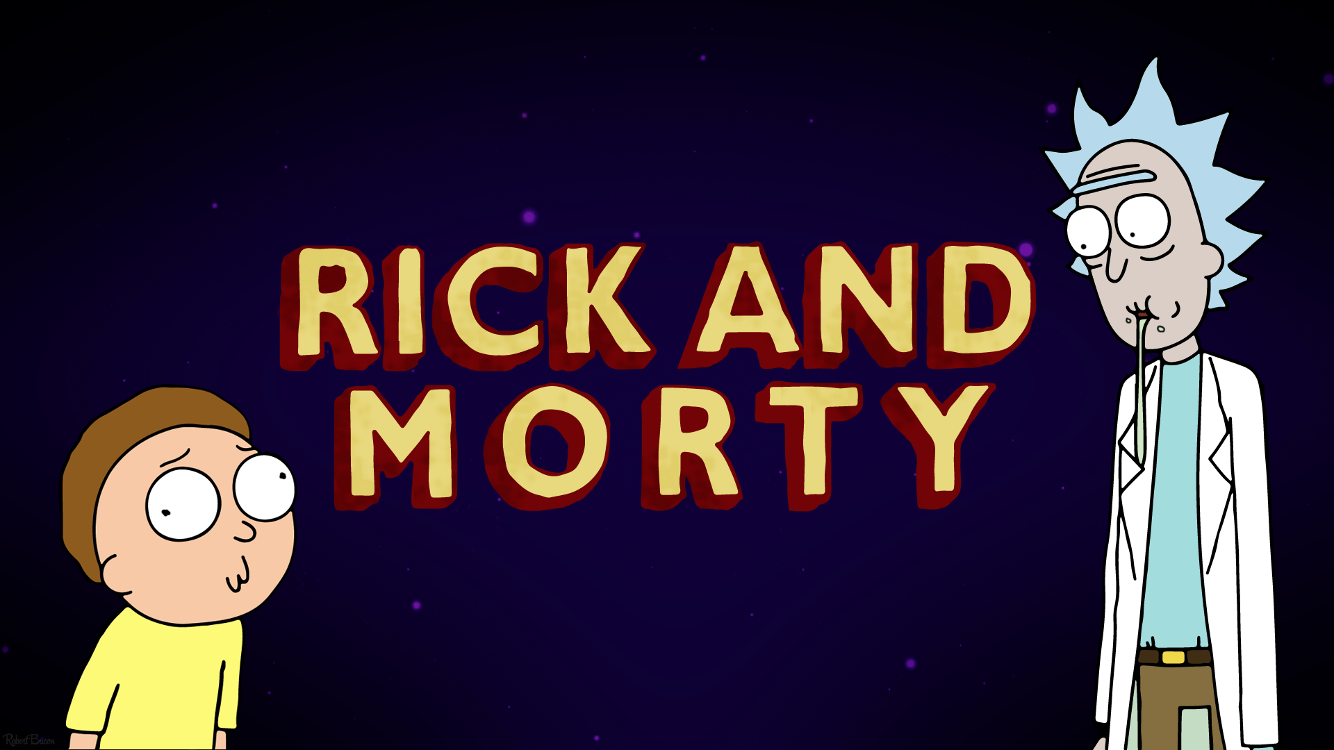 I made myself a Rick and Morty wallpaper. I thought I would share ...
