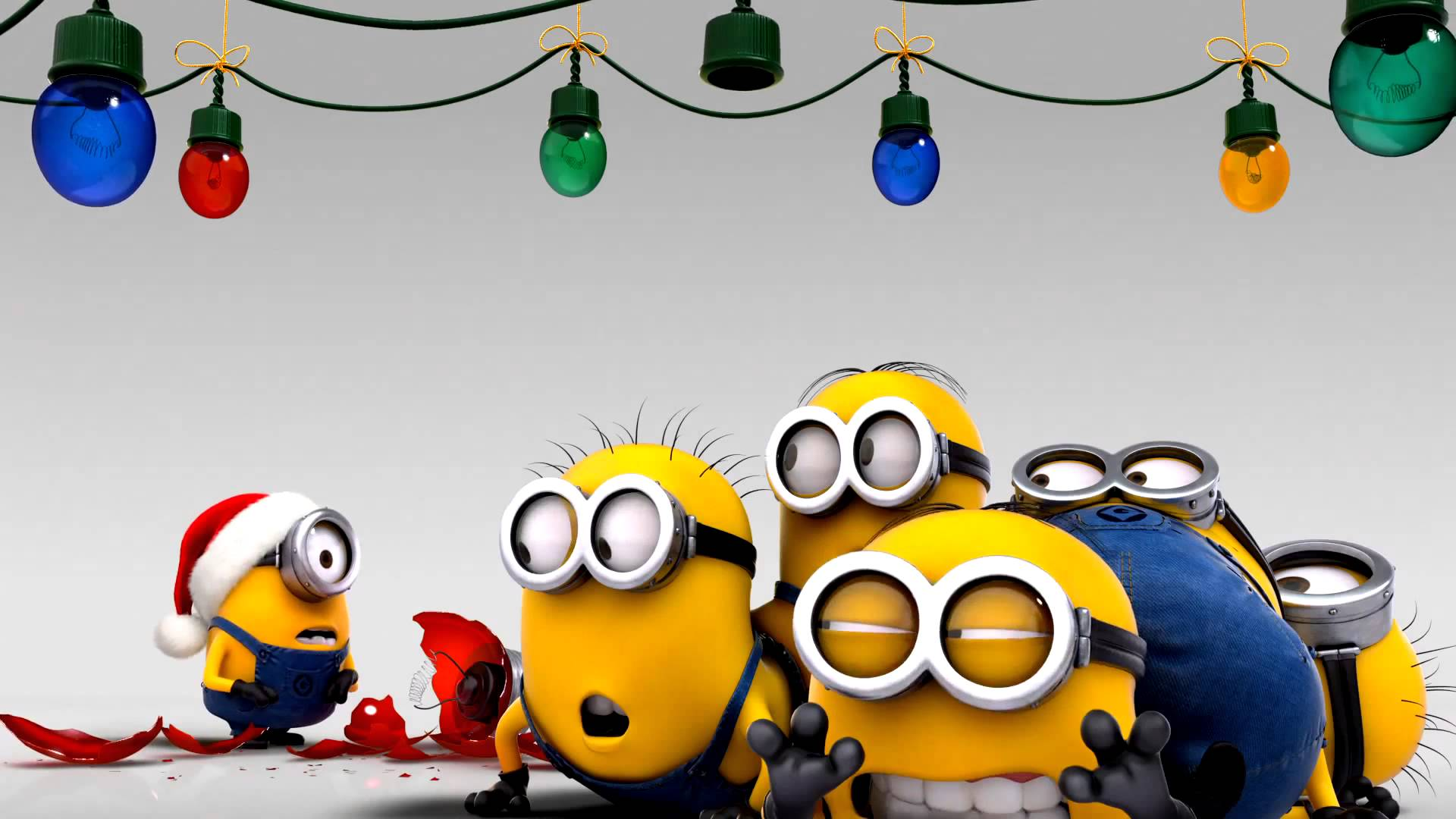 Minions decorating for christmas wallpaper - 1170566