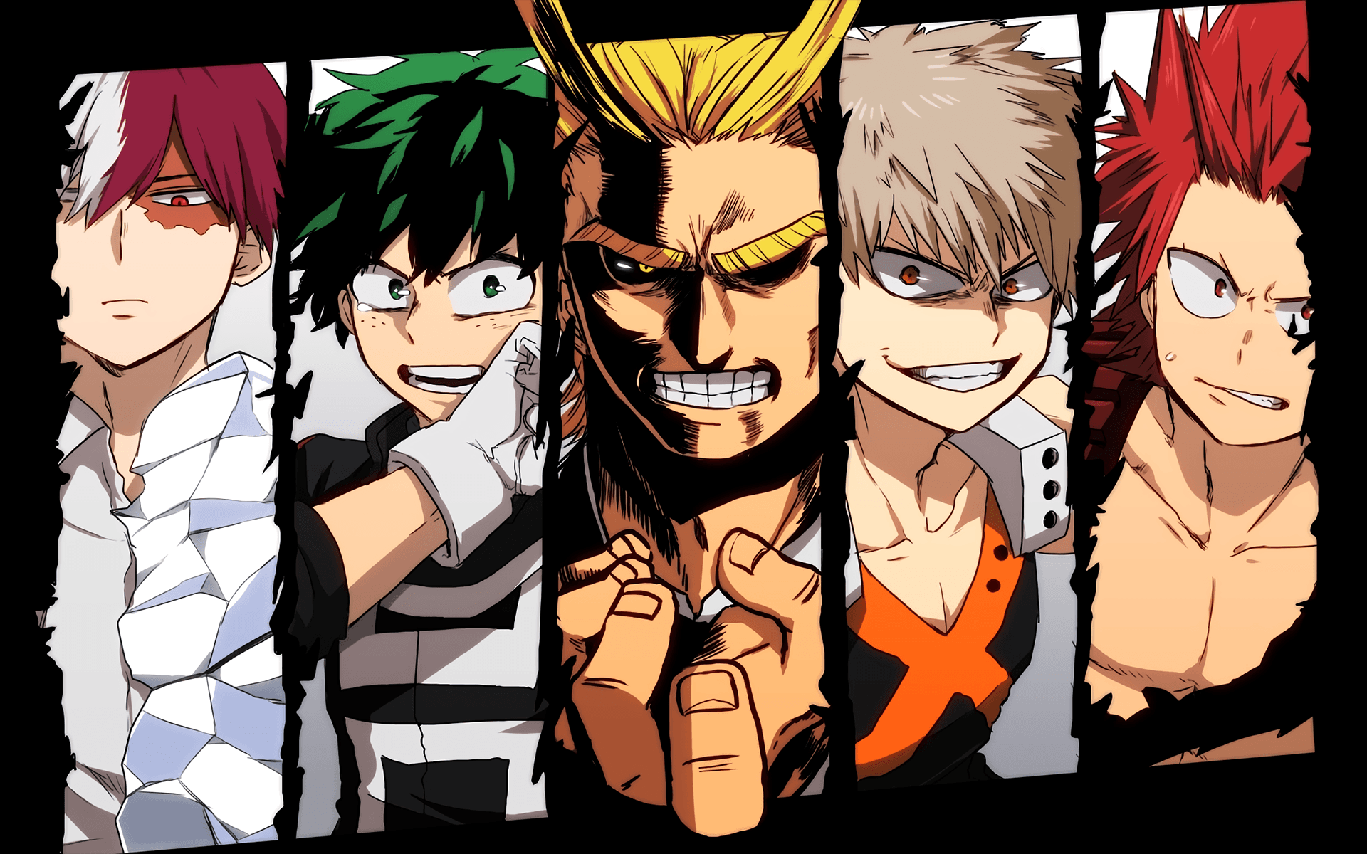Anime Boku No Hero Academia Izuku Midoriya All Might Katsuki ...