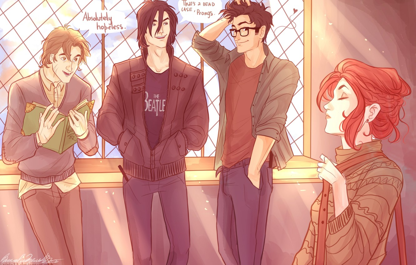 Wallpapers Harry Potter, Lily Evans, Remus Lupin, Sirius Black, James