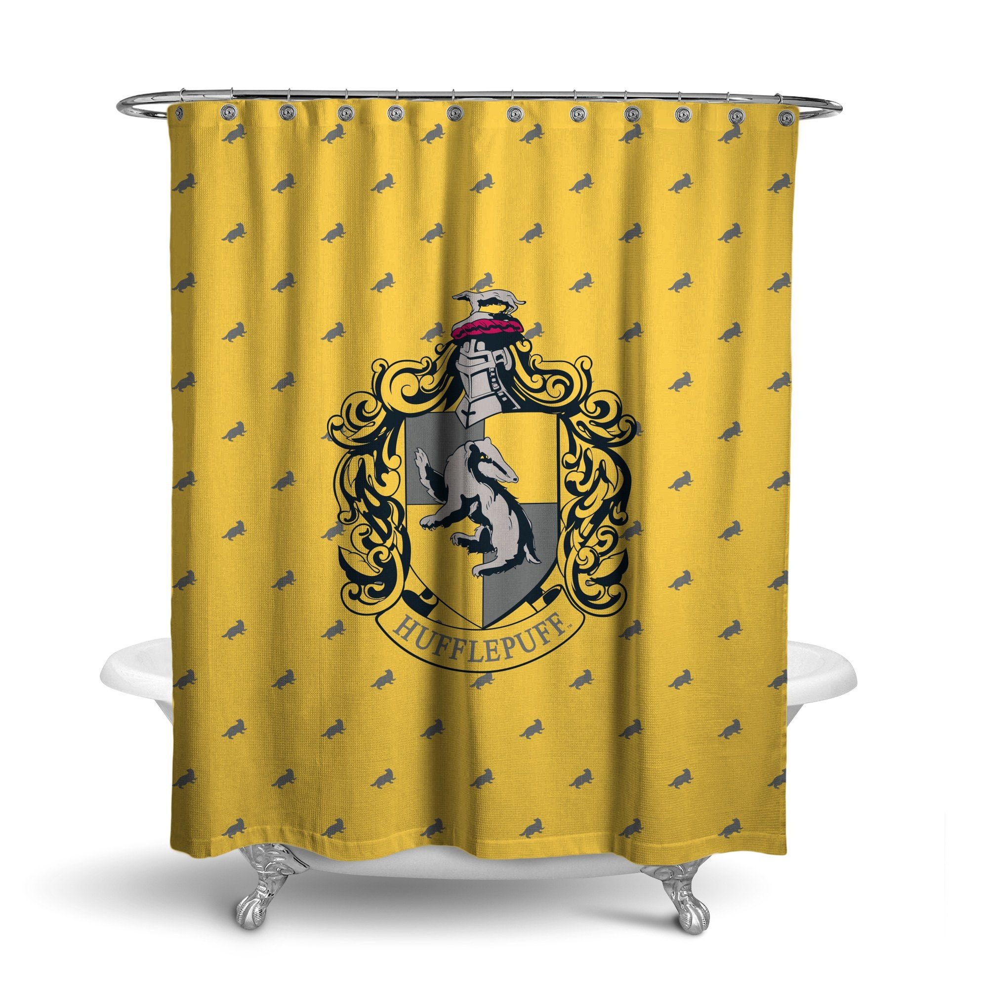 Seven Times Six: Harry Potter Hufflepuff Shower Curtain House
