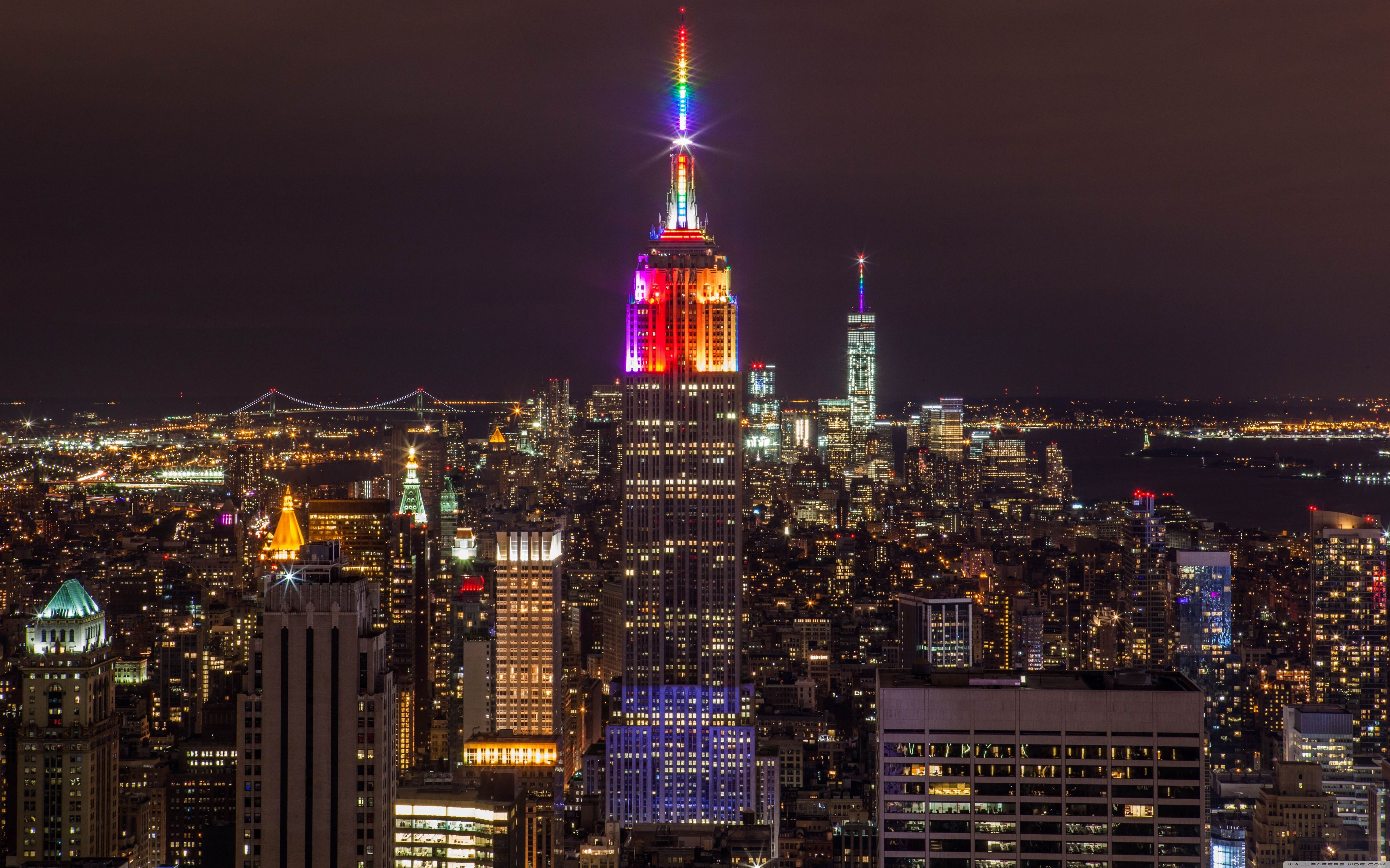 45+ NYC Skyline at Night Wallpapers