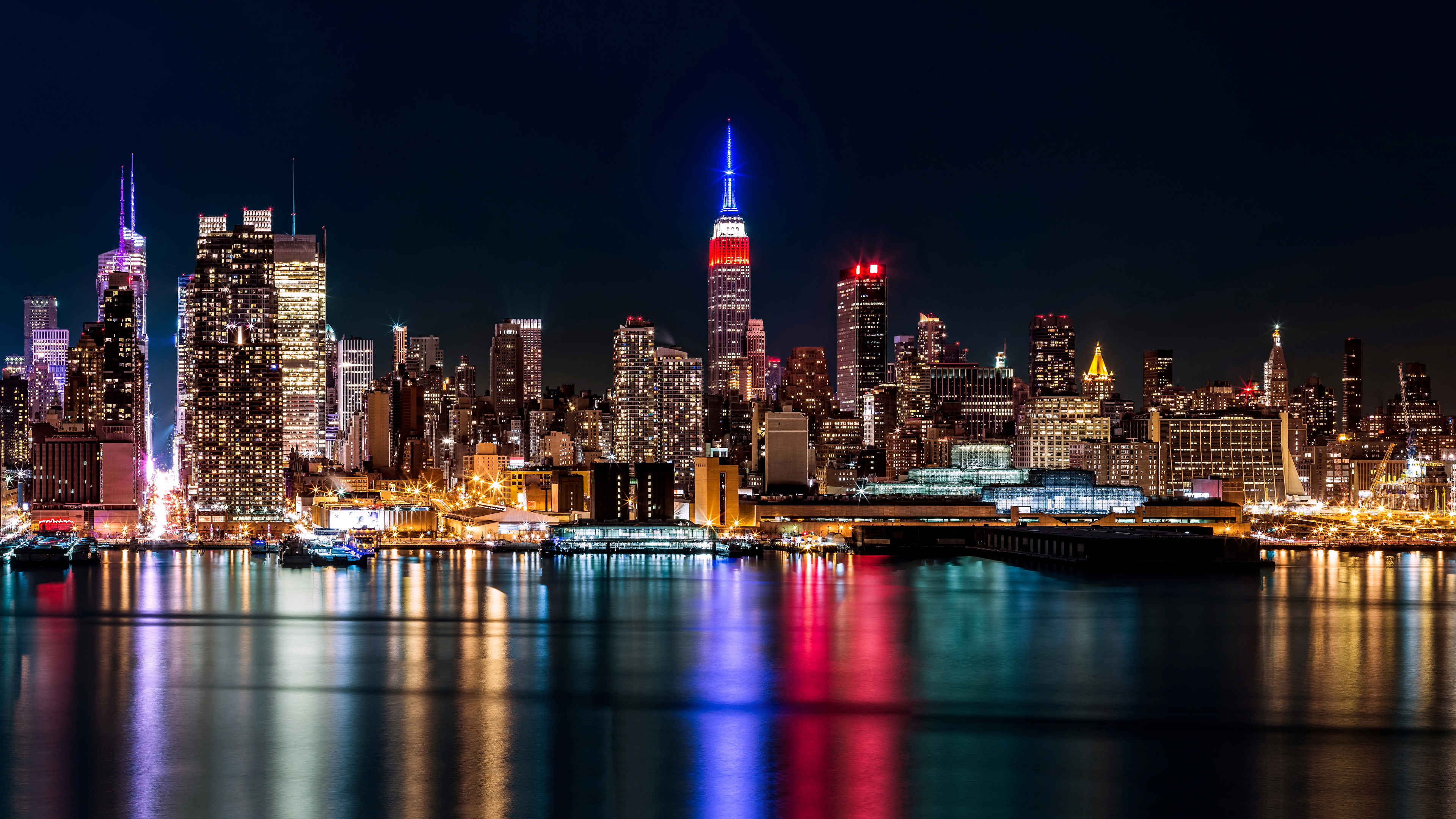 Manhattan New York City Night Wallpapers Free Pictures On Greepx