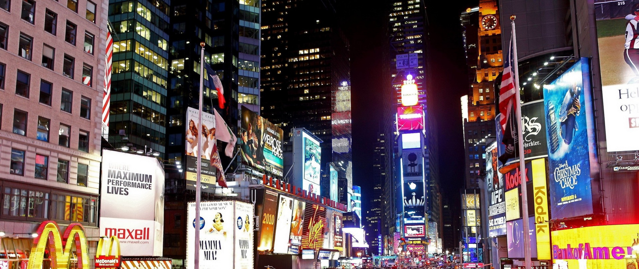 HD Backgrounds New York City Manhattan Times Square Street