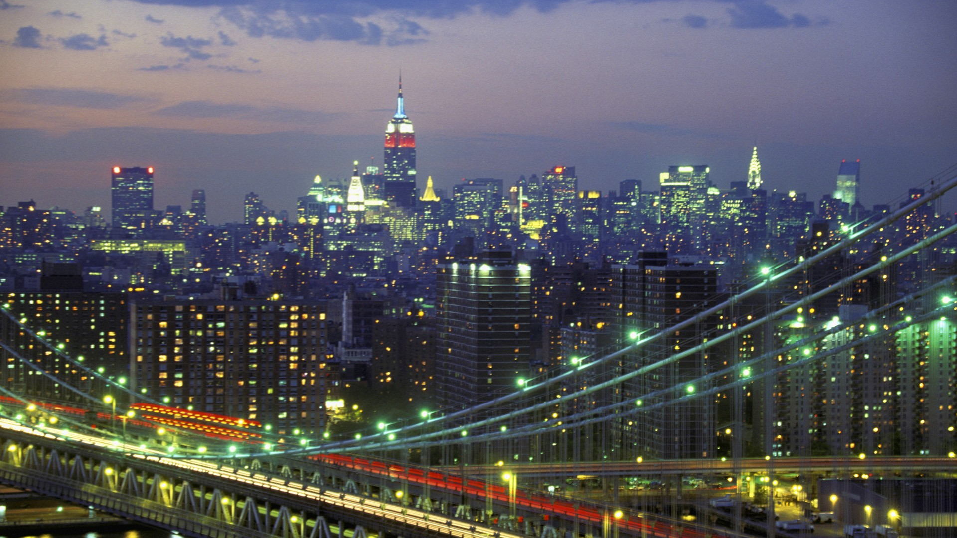 New York Skyline At Night Wallpapers Group