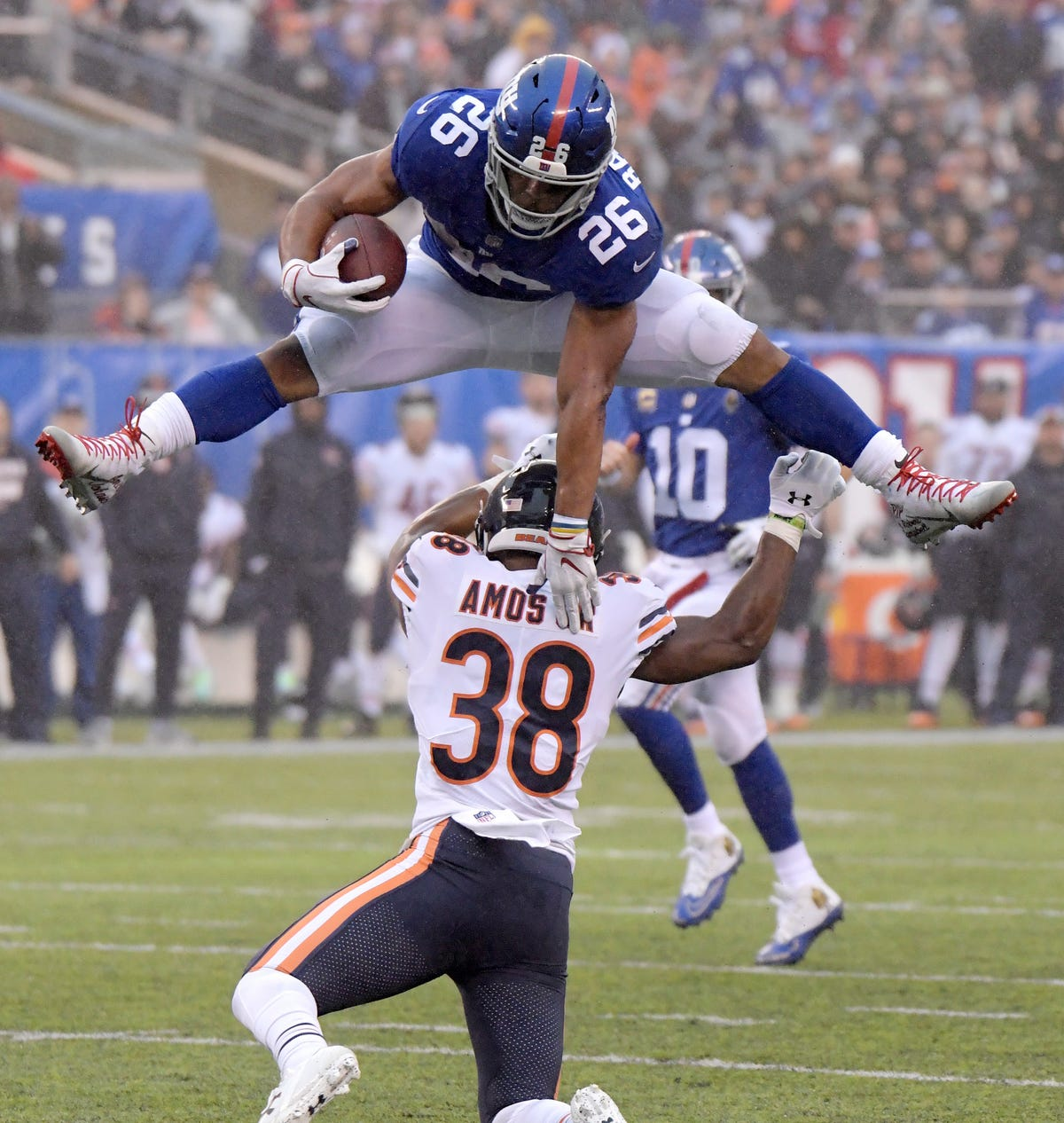 Saquon Barkley leaping to historic heights with NY Giants