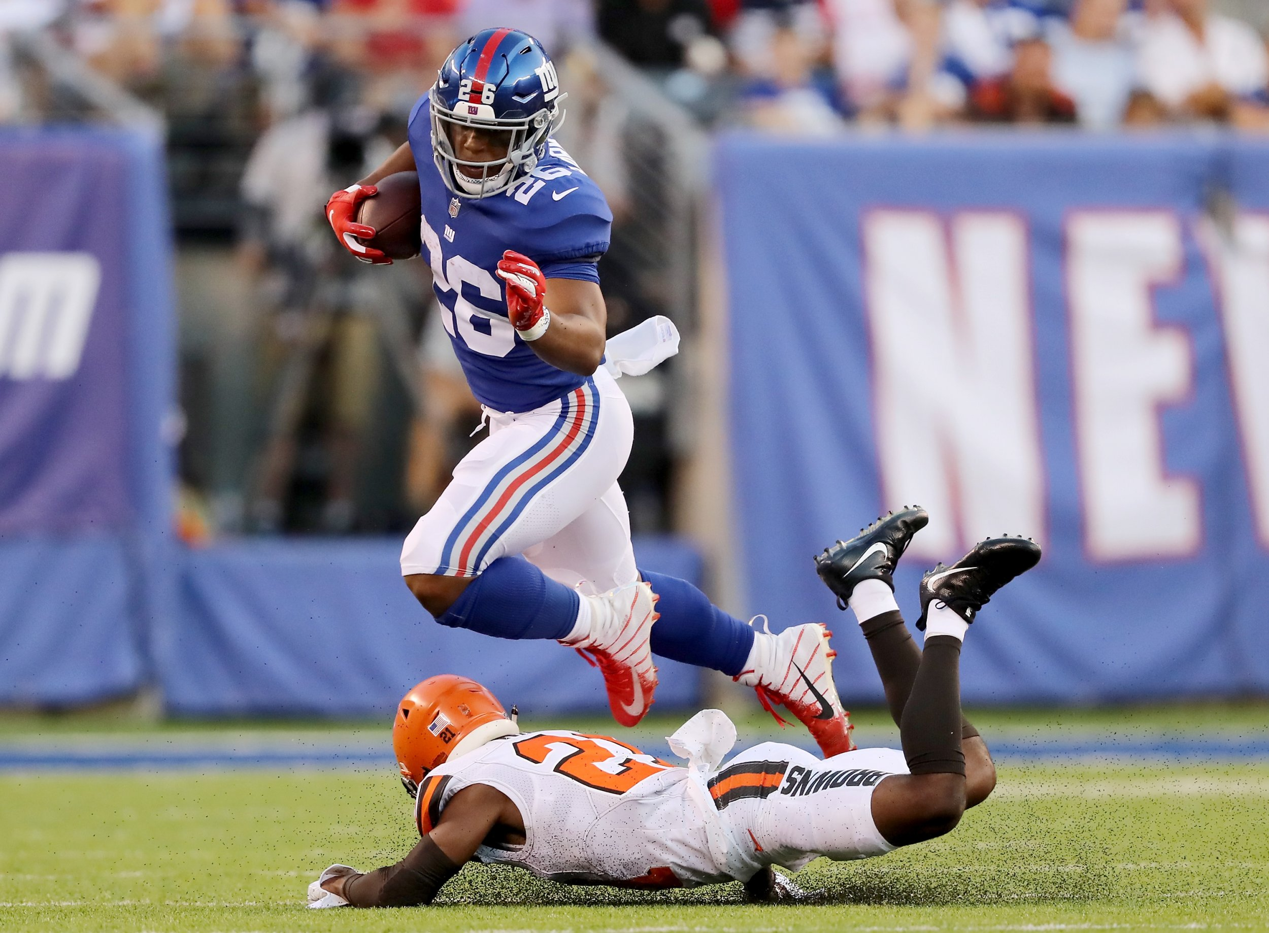 Saquon Barkley Injury: Giants Running Back Spotted With Wrap
