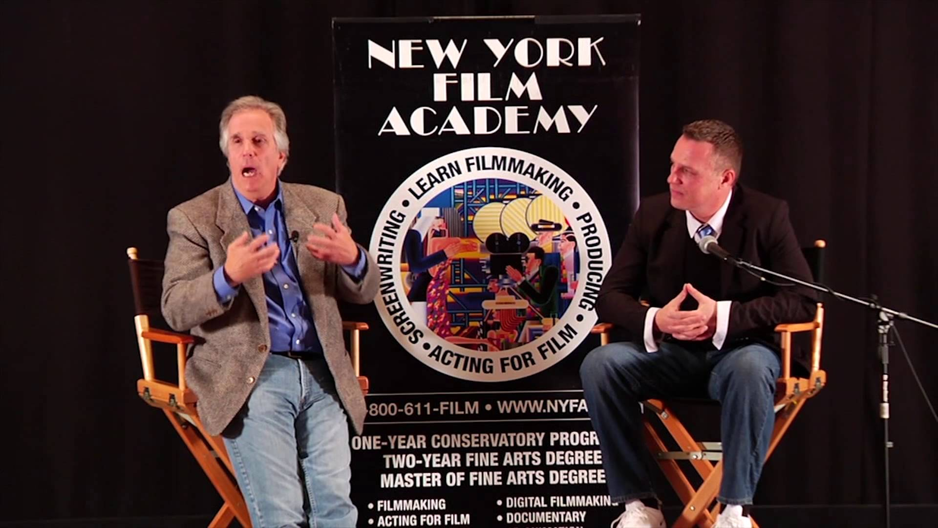 Discussion with Actor Henry Winkler at New York Film Academy