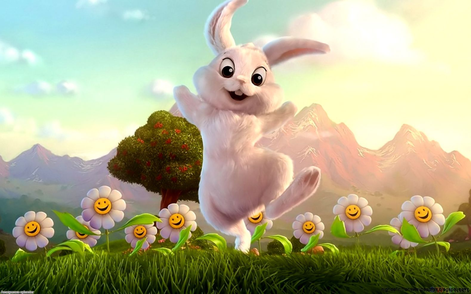 White Cute Bunny Wallpapers Hd