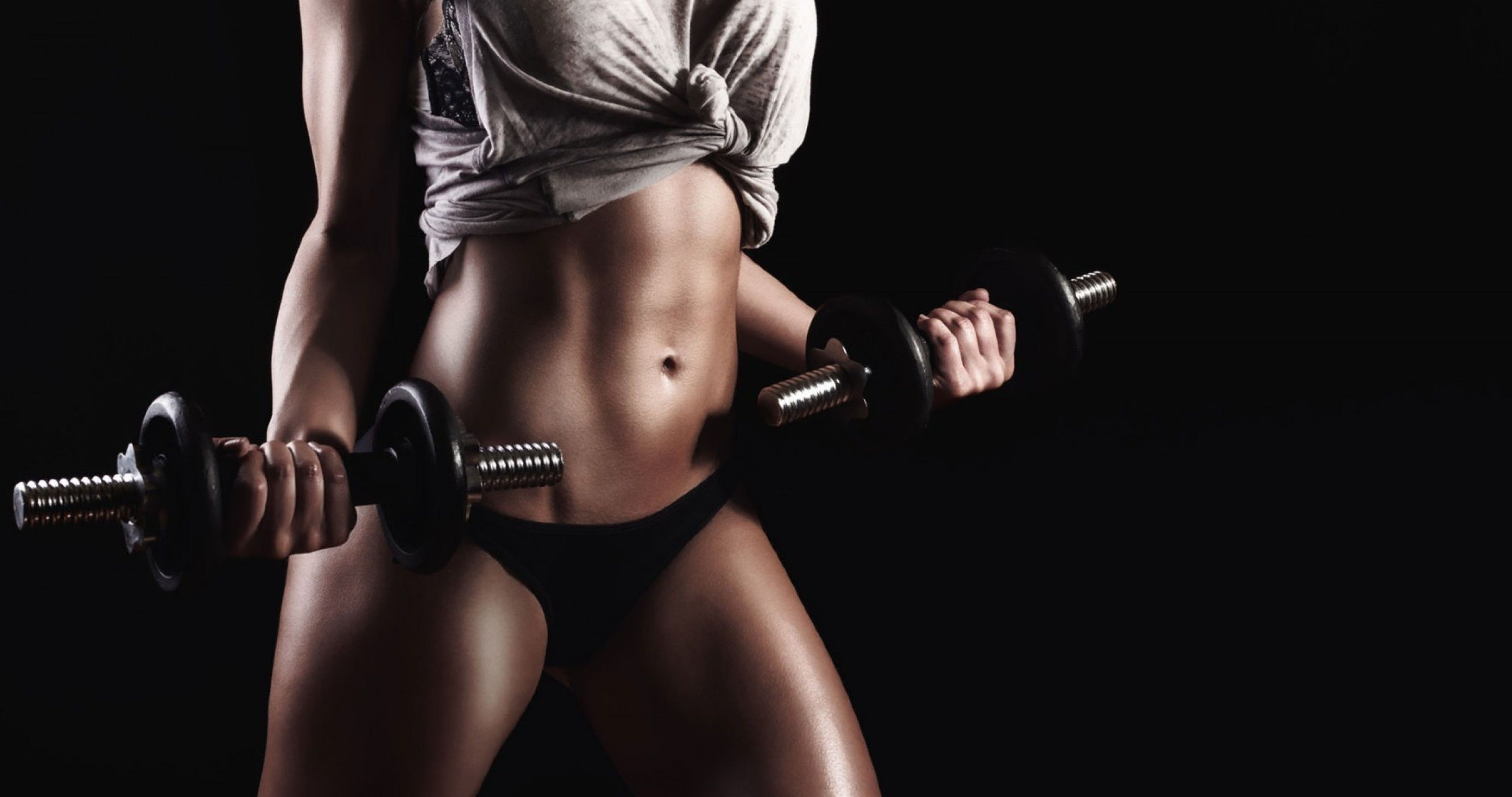 A Fitness Model Posing With Dumbells Health HD Wallpapers