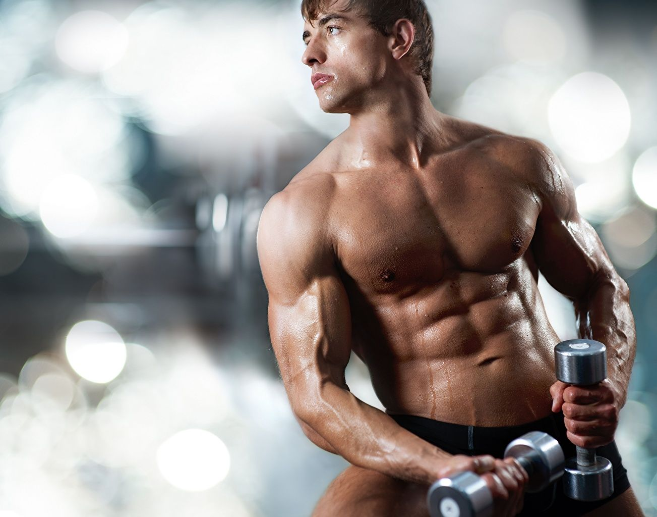 Wallpapers Sport Men Muscle Fitness Beautiful Dumbbells Bodybuilding