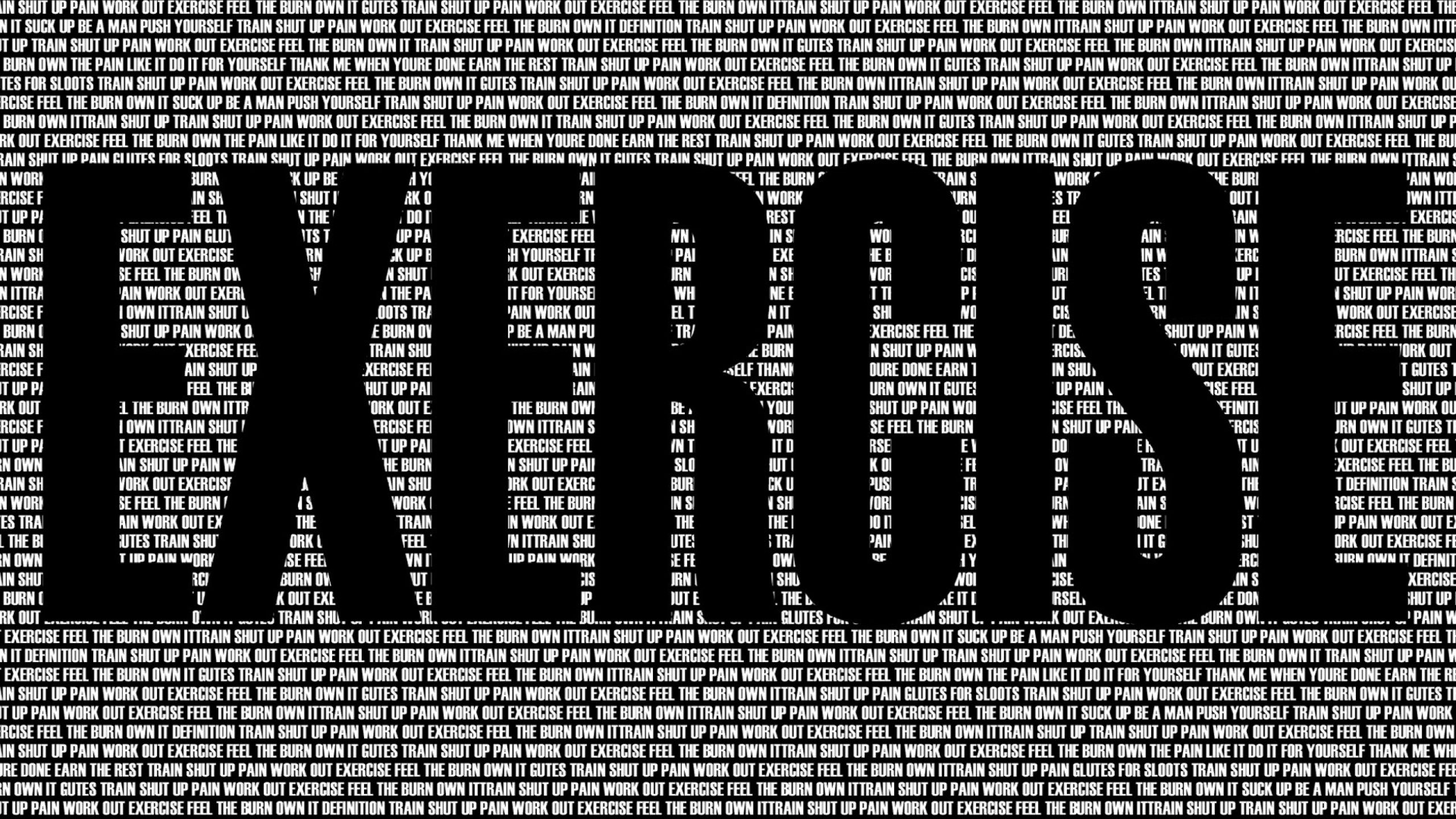 black and white typography exercises workout motivation