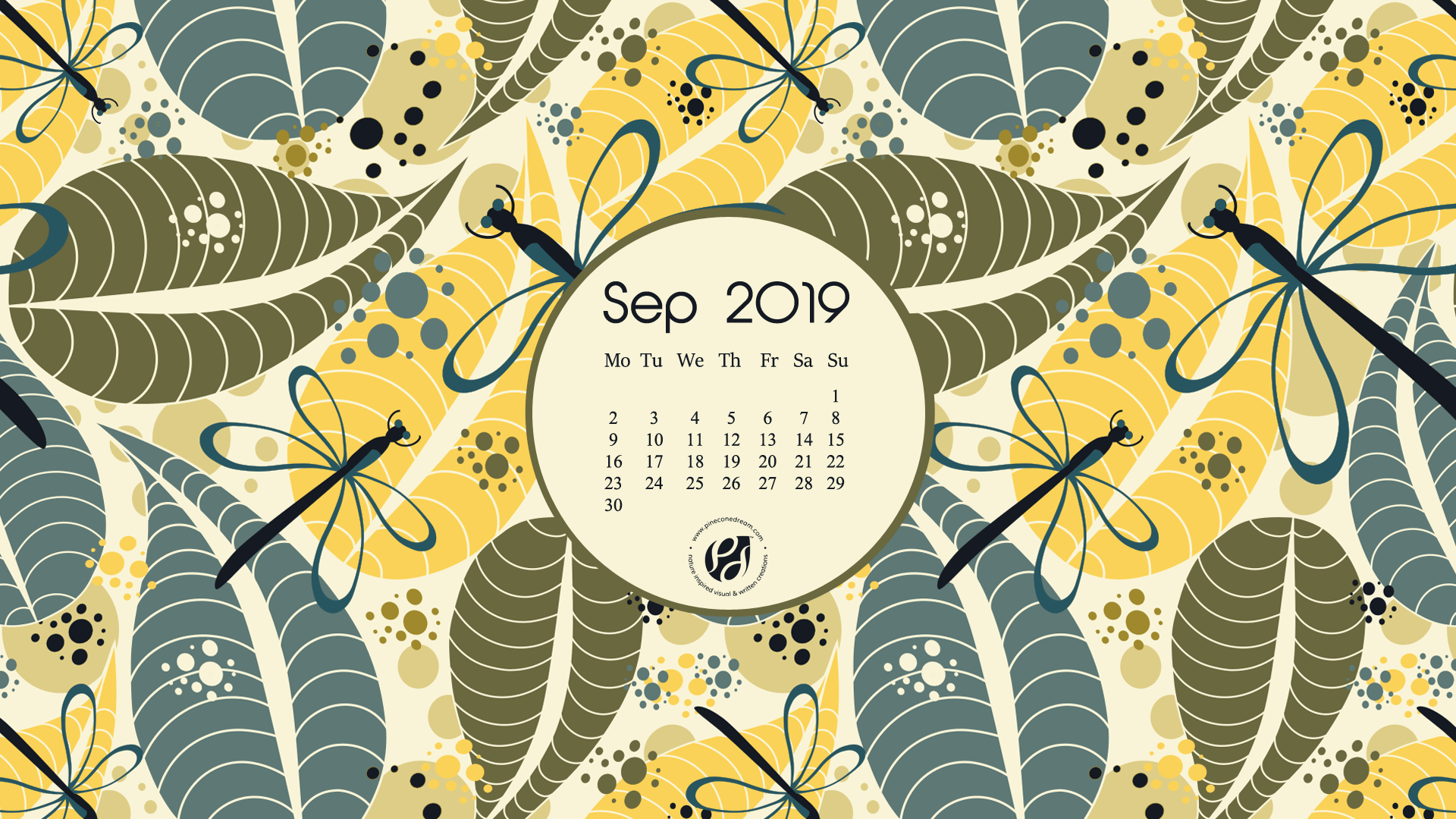 September 2019 free calendar wallpapers & printable planner