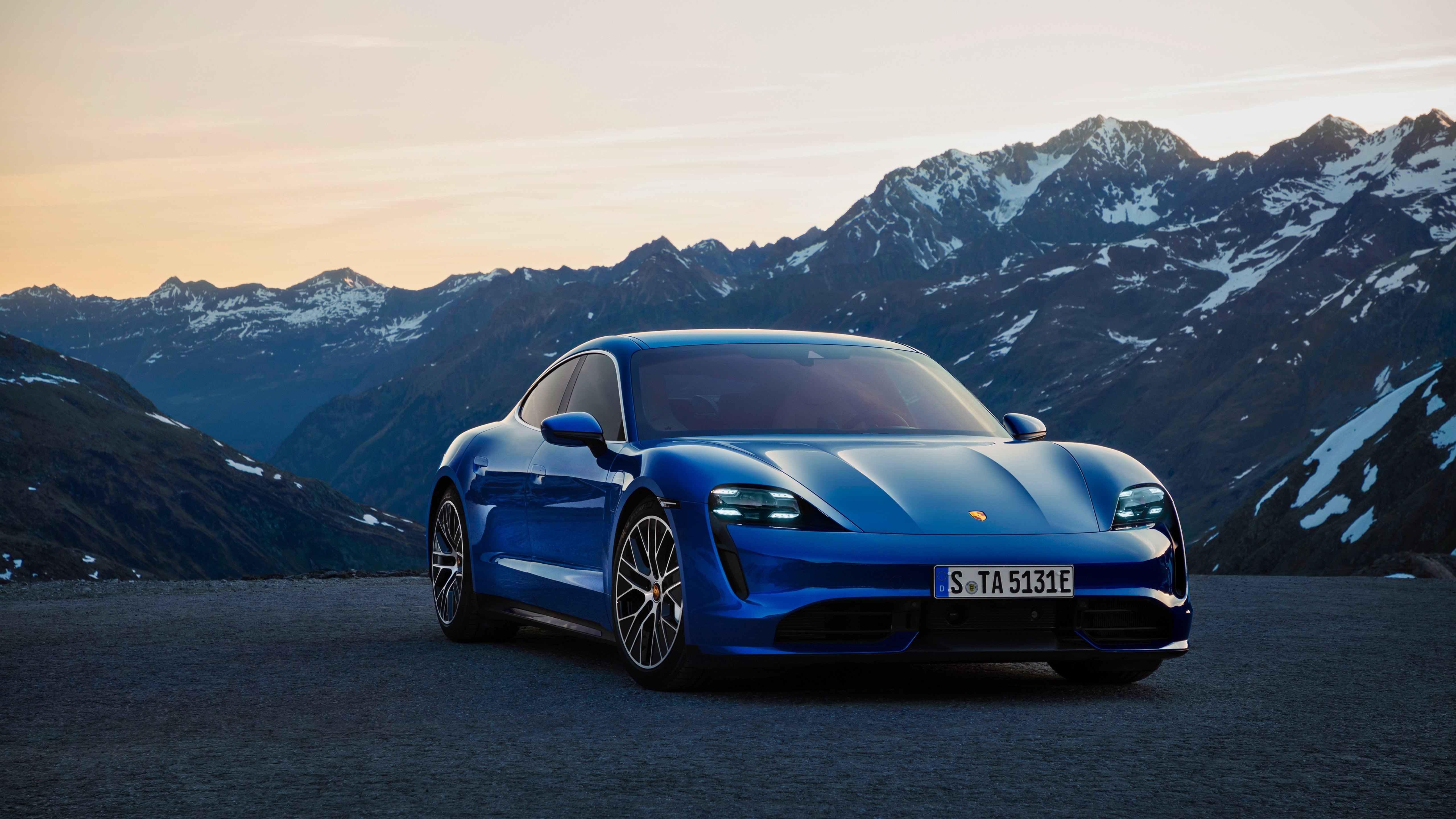 Porsche Taycan Turbo 2019 5K Wallpapers