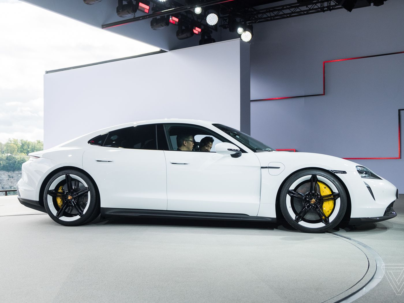 Up close with the Taycan, Porsche's first electric car