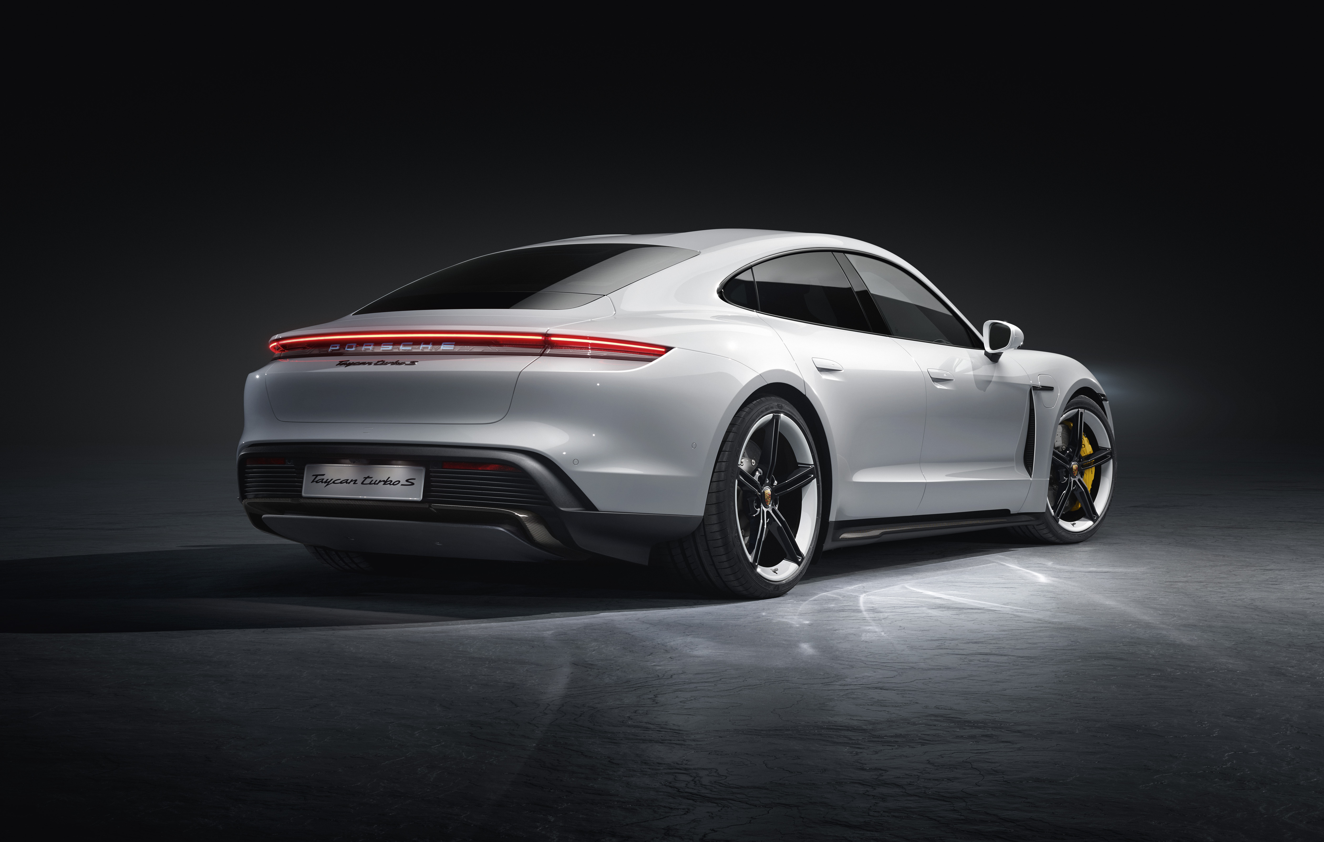 Porsche Taycan Turbo S 2019 Rear, HD Cars, 4k Wallpapers