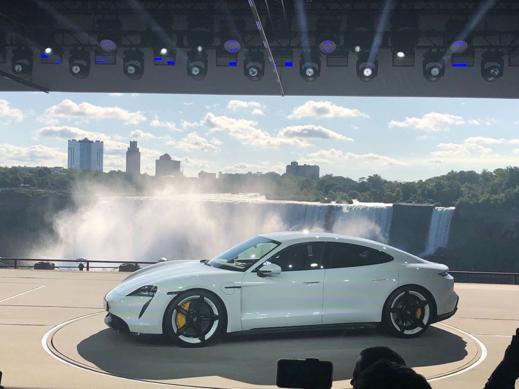 Porsche unveils Taycan electric car: up to 280 miles of