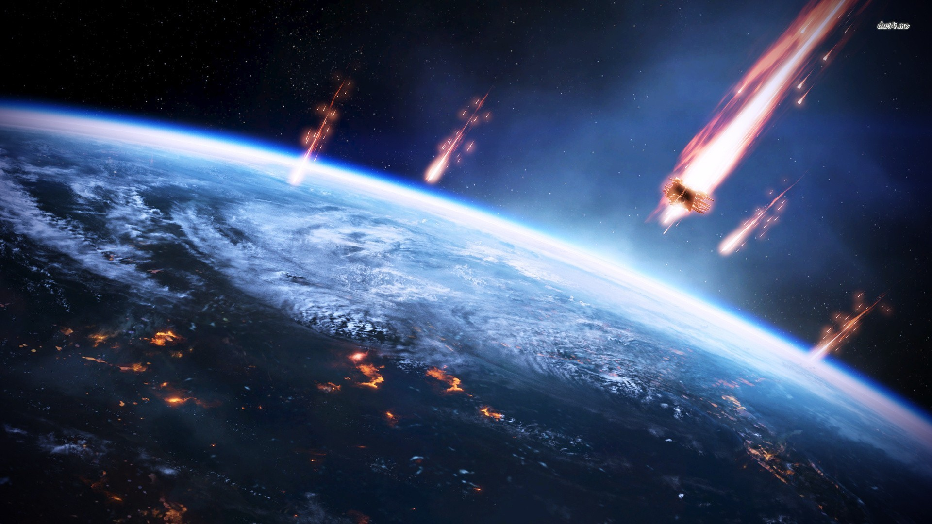 Meteorite crashes into Earth wallpapers