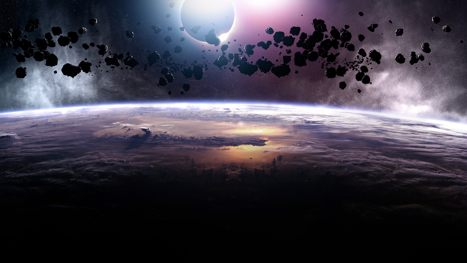 Asteroids Eclipse Wallpapers in jpg format for free download