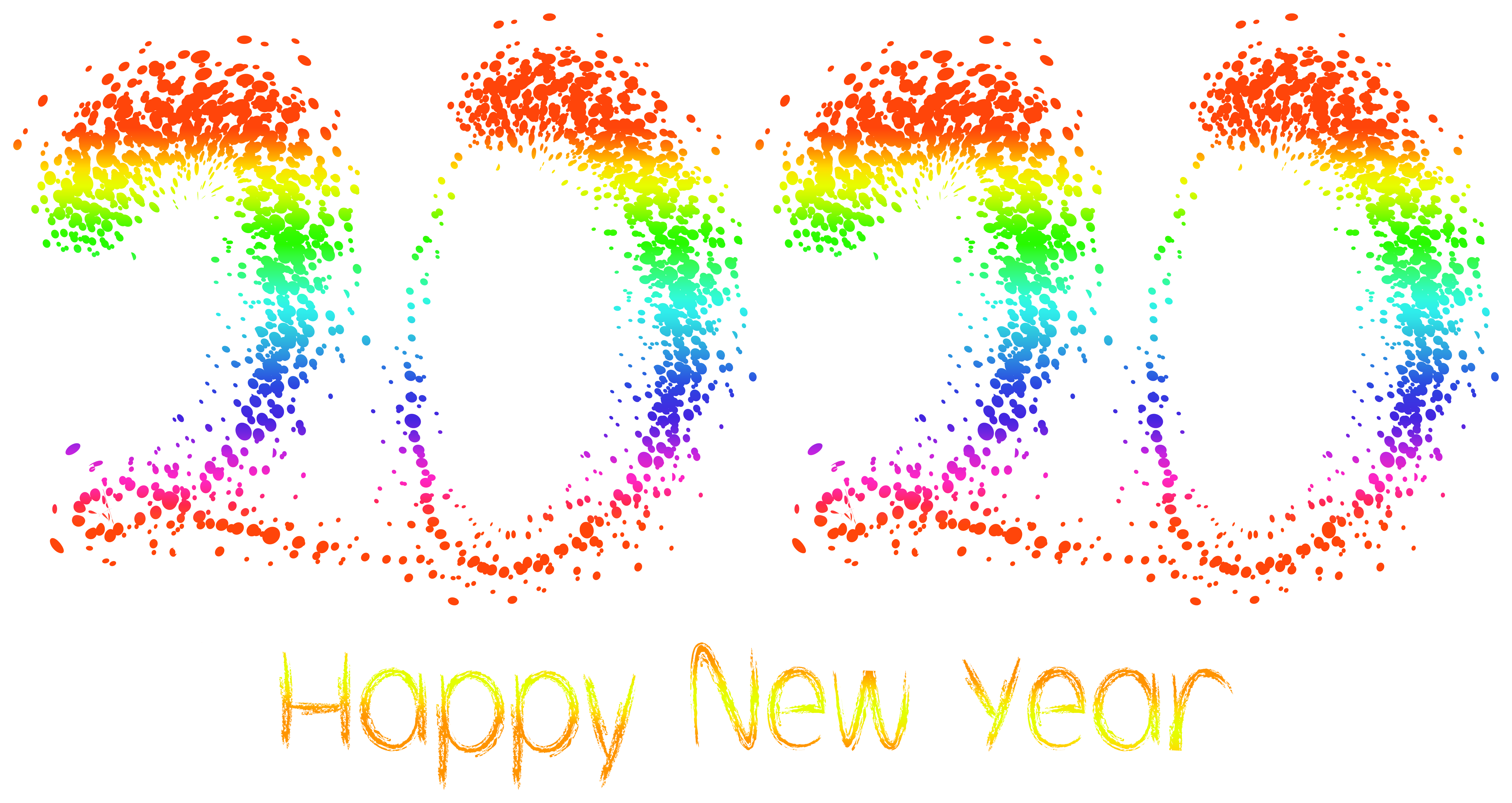 2020 Happy New Year PNG Clipart Image