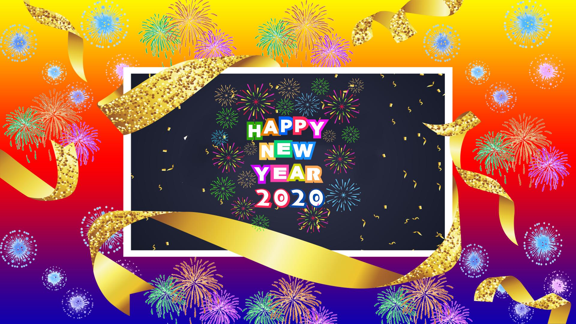 Happy new year 2020 CD banner backgrounds HD image – Aoraki