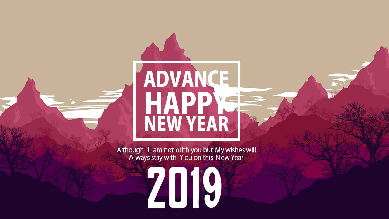 Happy New Year 2019 Wishes Greetings Image for Whatsapp Twitter