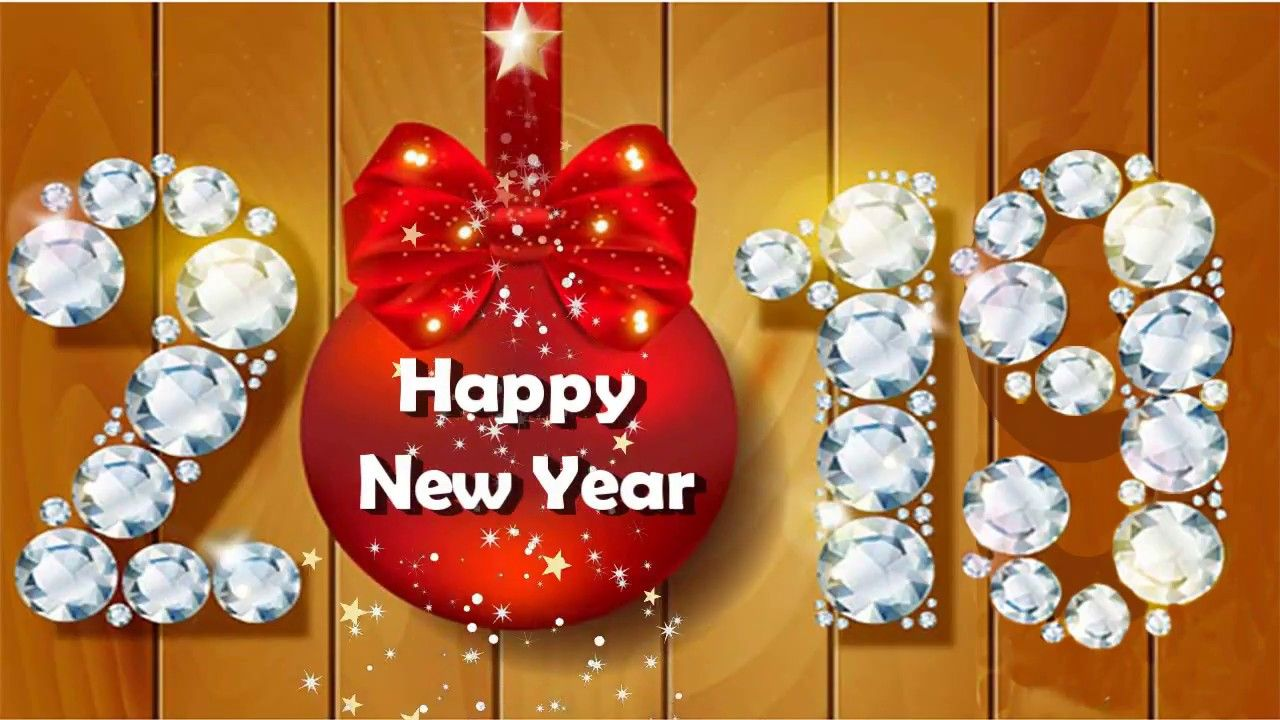 Happy New Year 2019 Greeting Card For Whatsapp