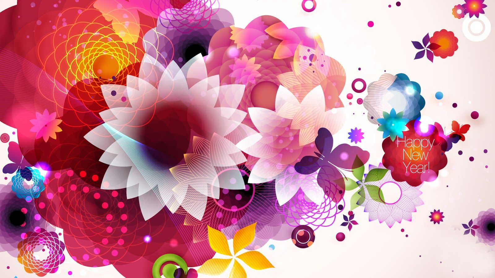 Happy New Year 2016 Flowers Image, Wallpapers