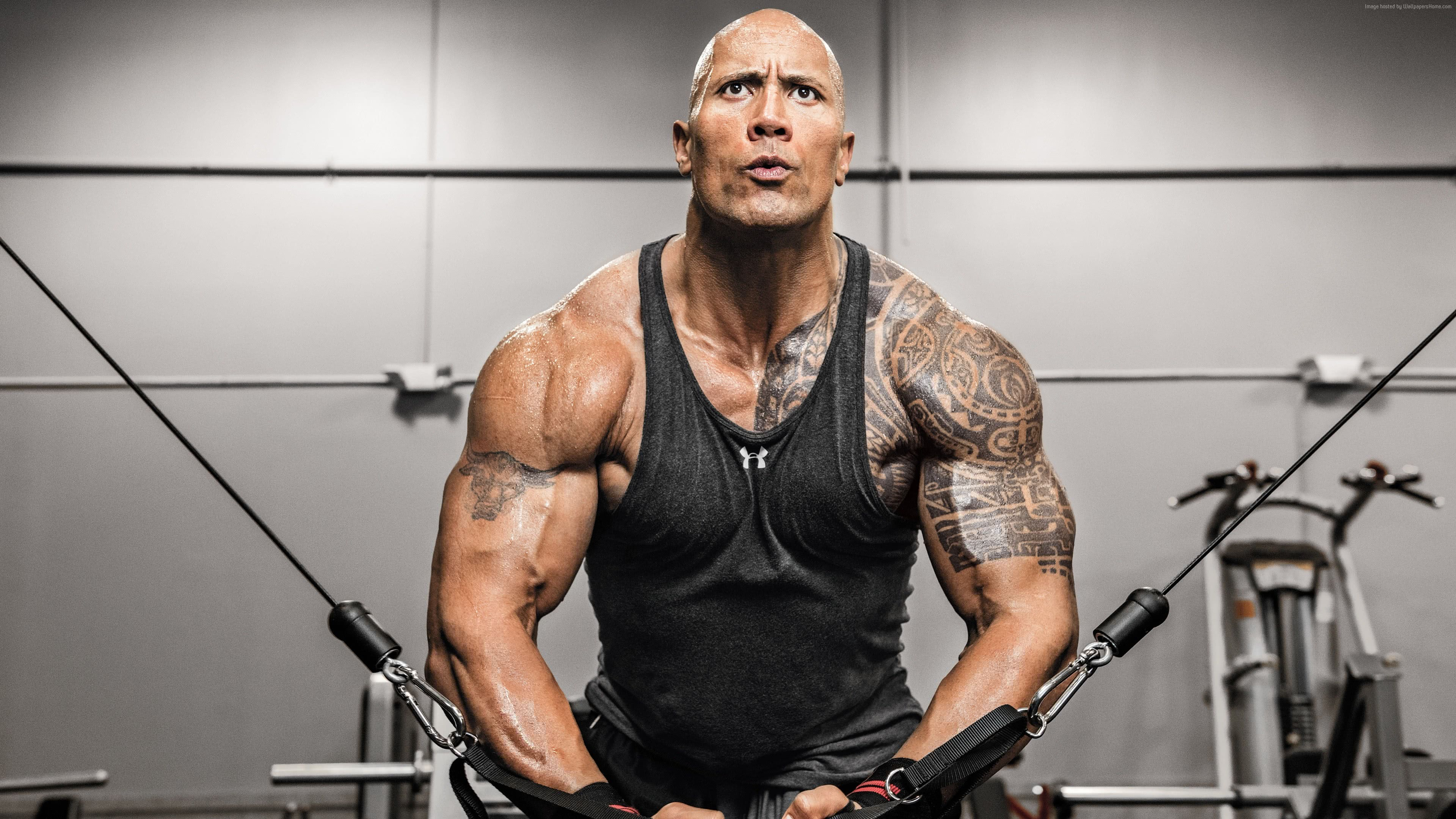 Dwayne Johnson Workout UHD 4K Wallpapers