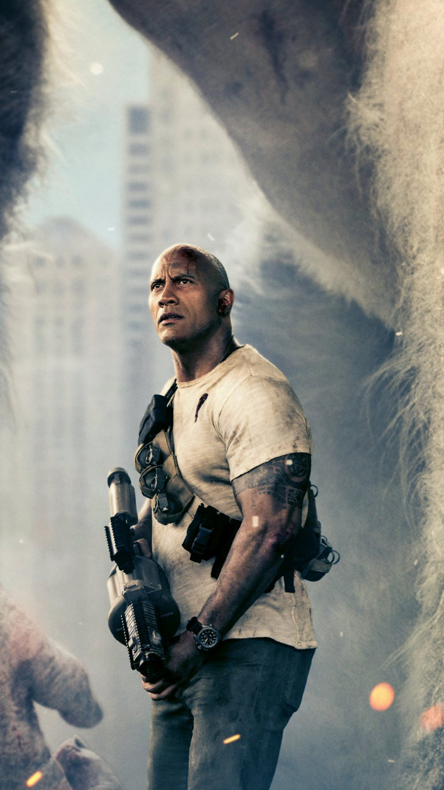 Wallpapers Rampage, Dwayne Johnson, 4k, Movies