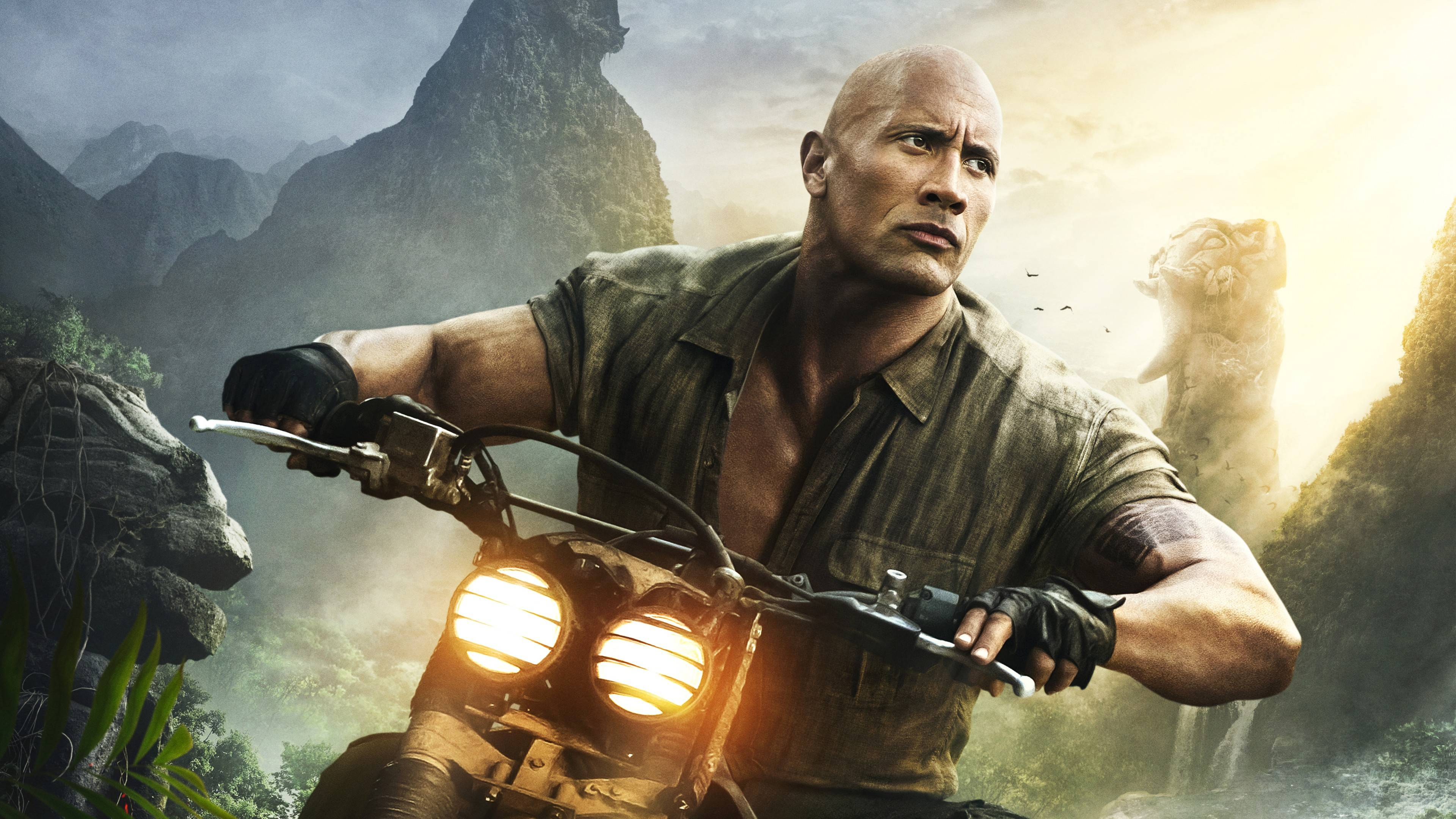 Dwayne Johnson in Jumanji Welcome to the Jungle HD Wallpapers