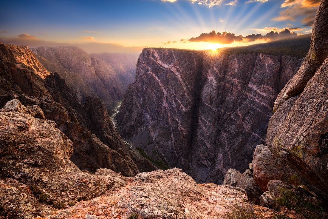Sunrise over Black Canyon of the Gunnison National Park. See more