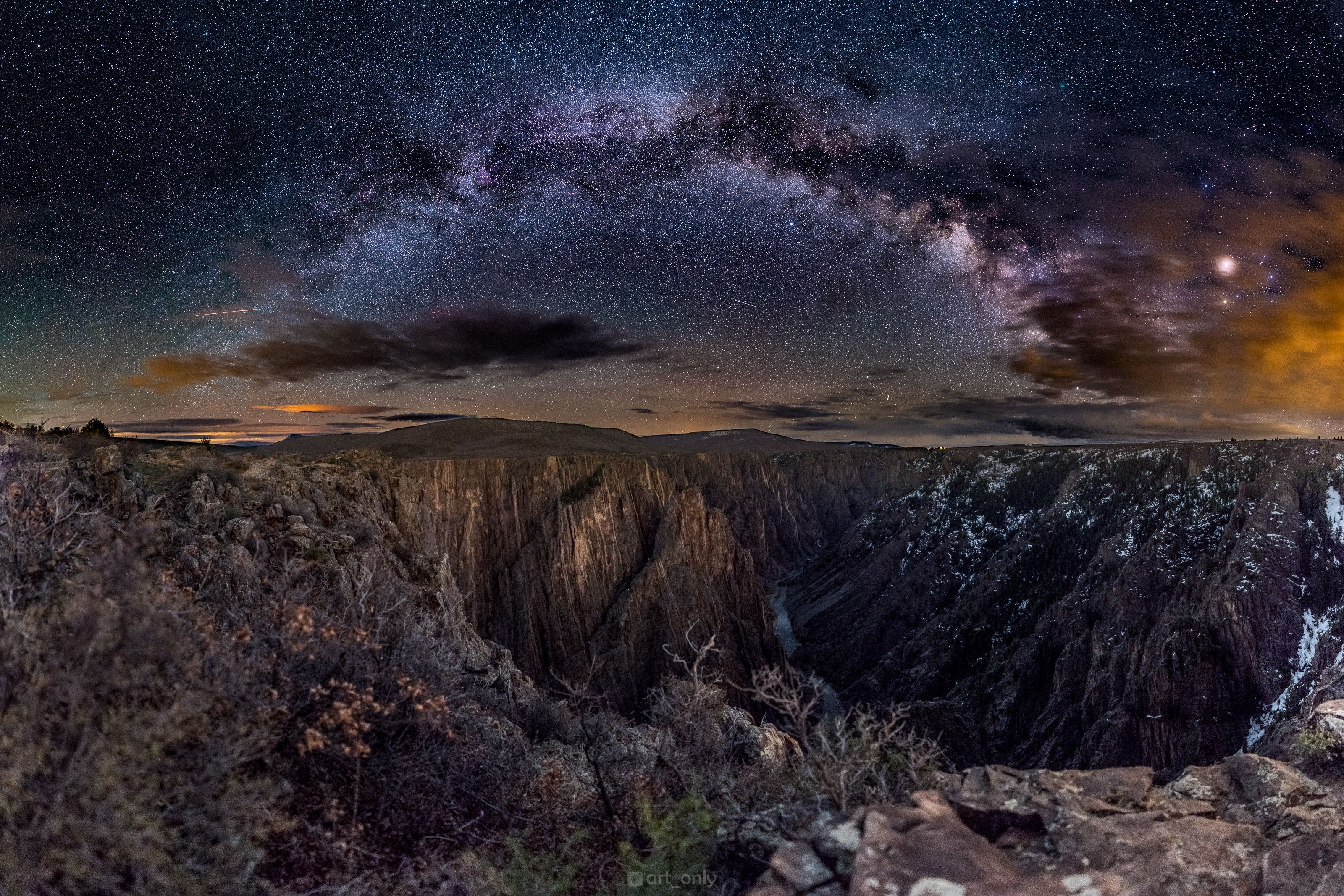 I went to see Black Canyon Of the Gunnison in Colorado at night