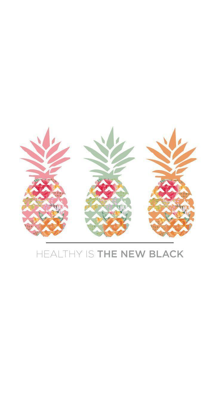 Pineapples iphone wallpaper. Healthy lifestyle wallpapers. Enjoy