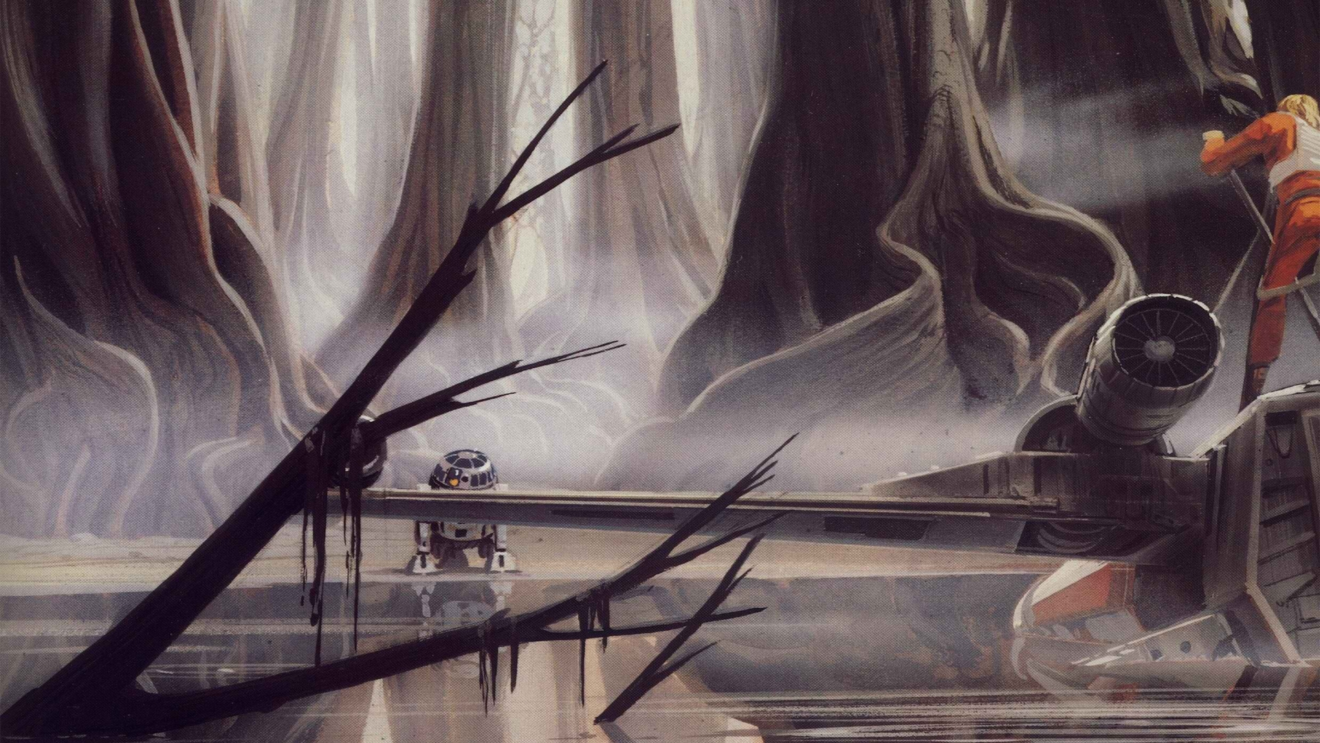 star wars r2d2 luke skywalker xwing ralph mcquarrie