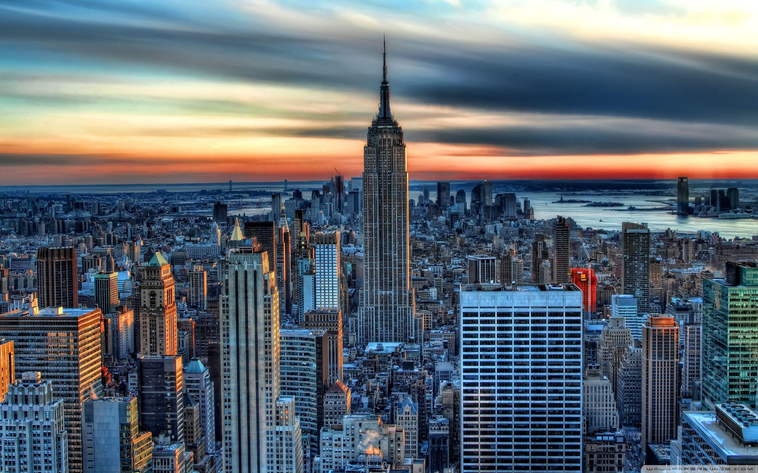 Empire State Building HDR HD desktop wallpapers : High Definition