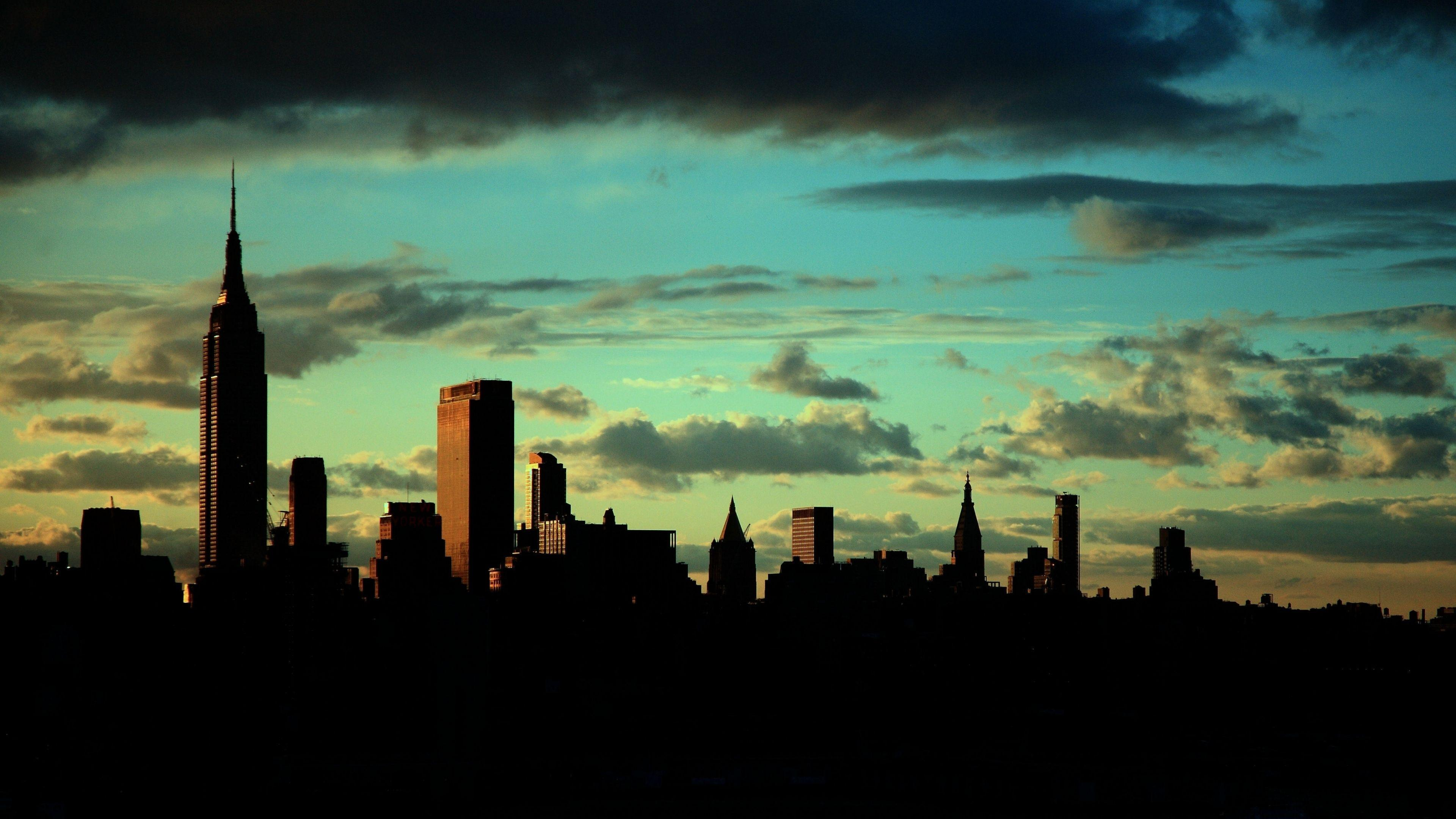 Download Wallpapers 3840x2160 New york, Empire state building