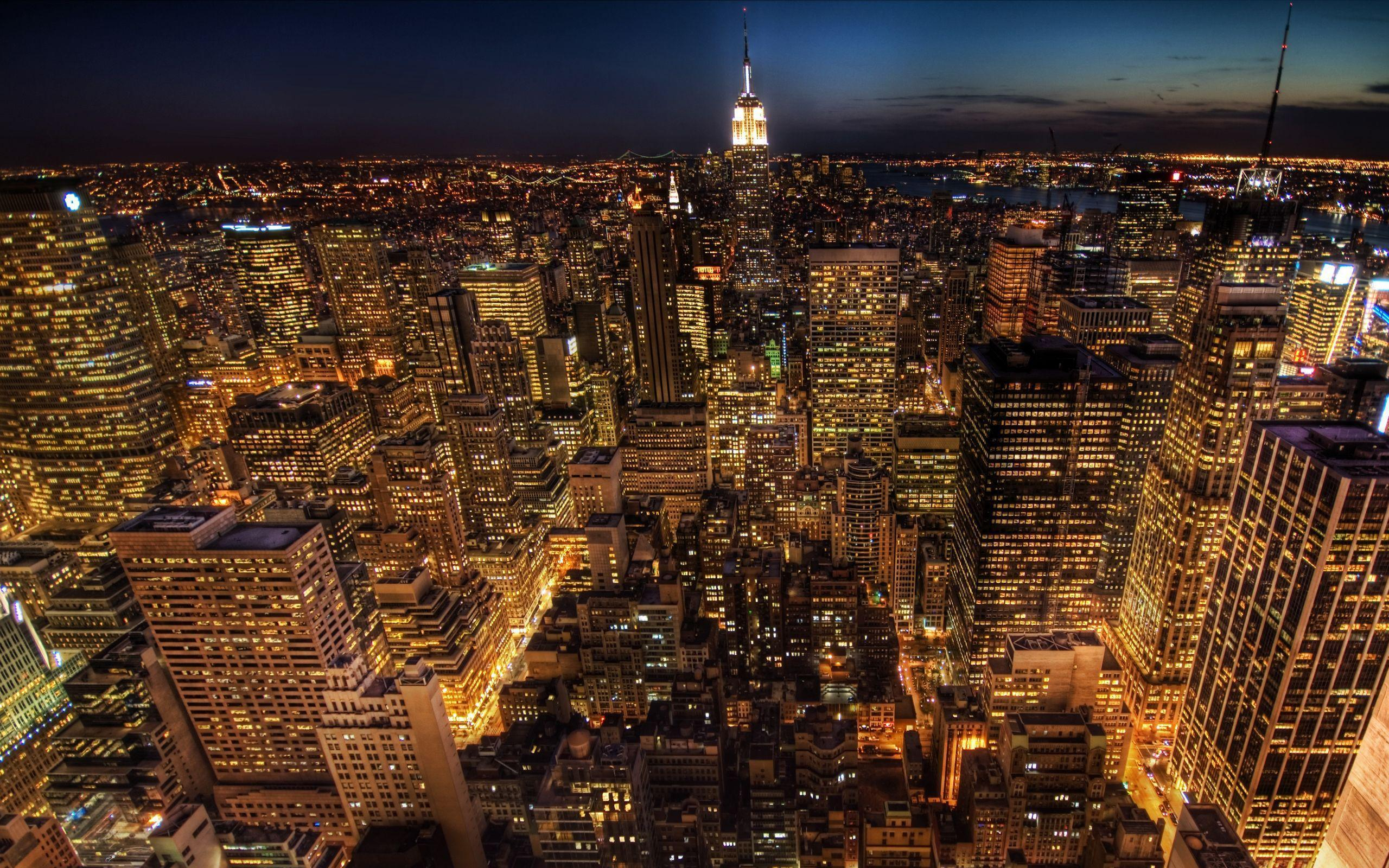 Empire State Building At Night Wallpapers