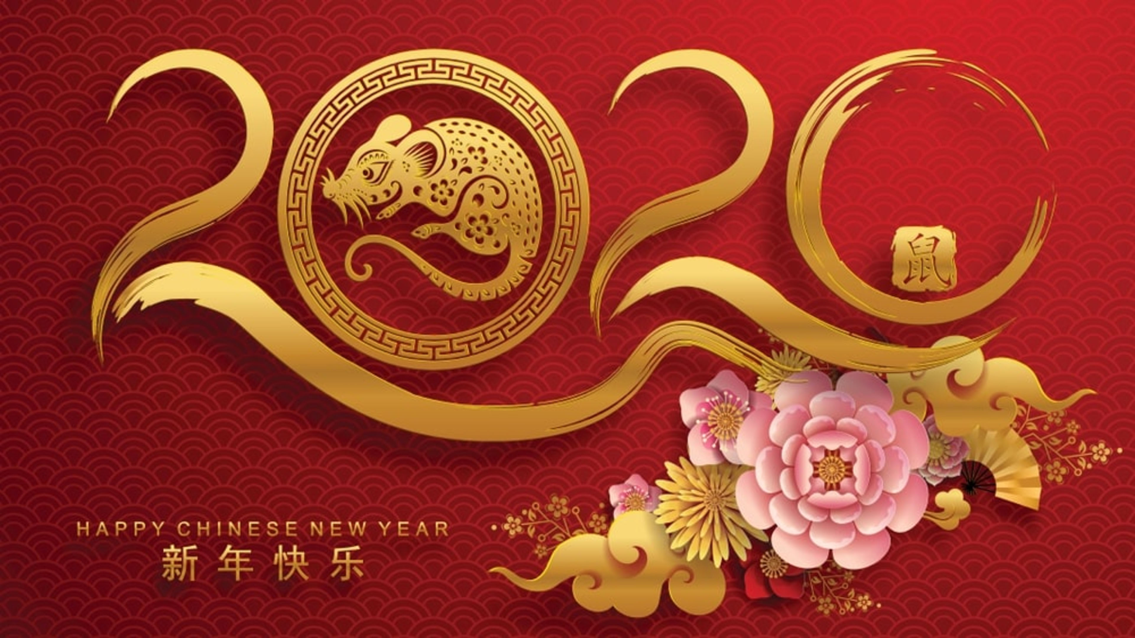 Happy New Year 2020 Zodiac Sign Year Of The Rat Chinese