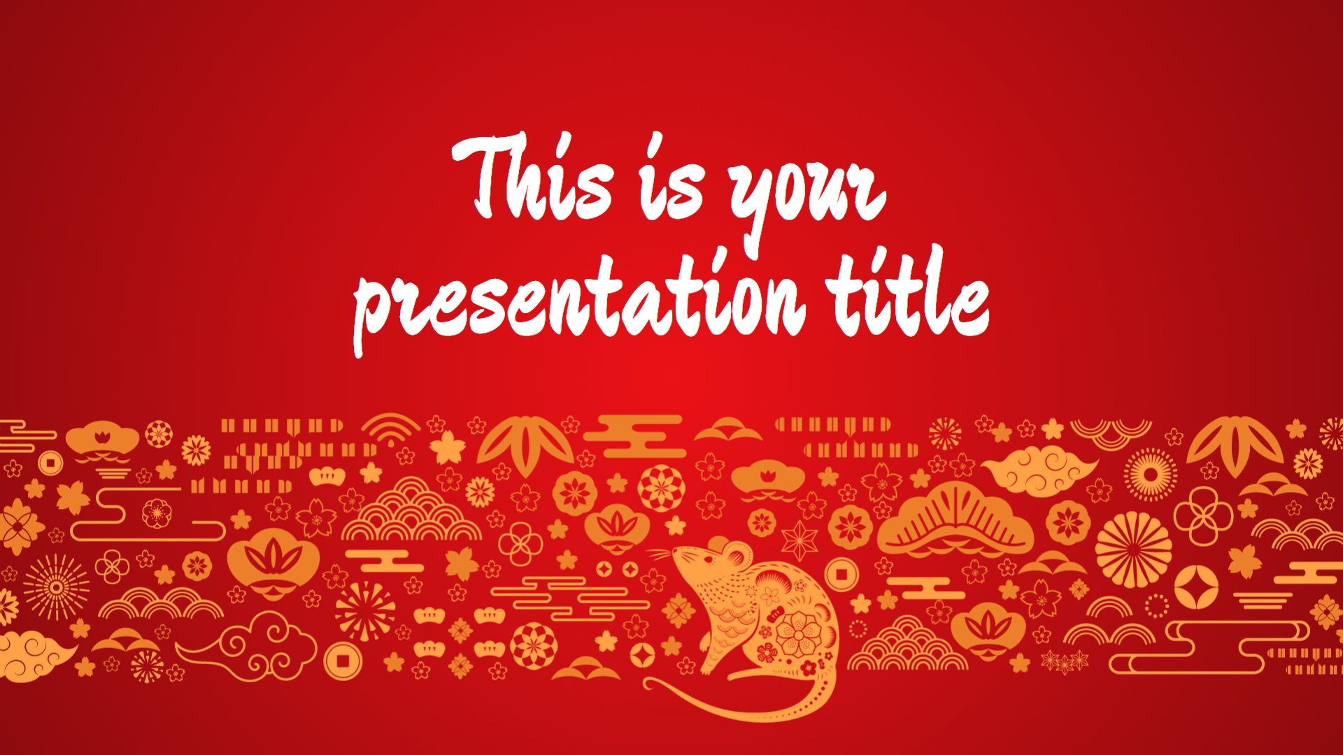 Free Powerpoint template or Google Slides theme for Chinese